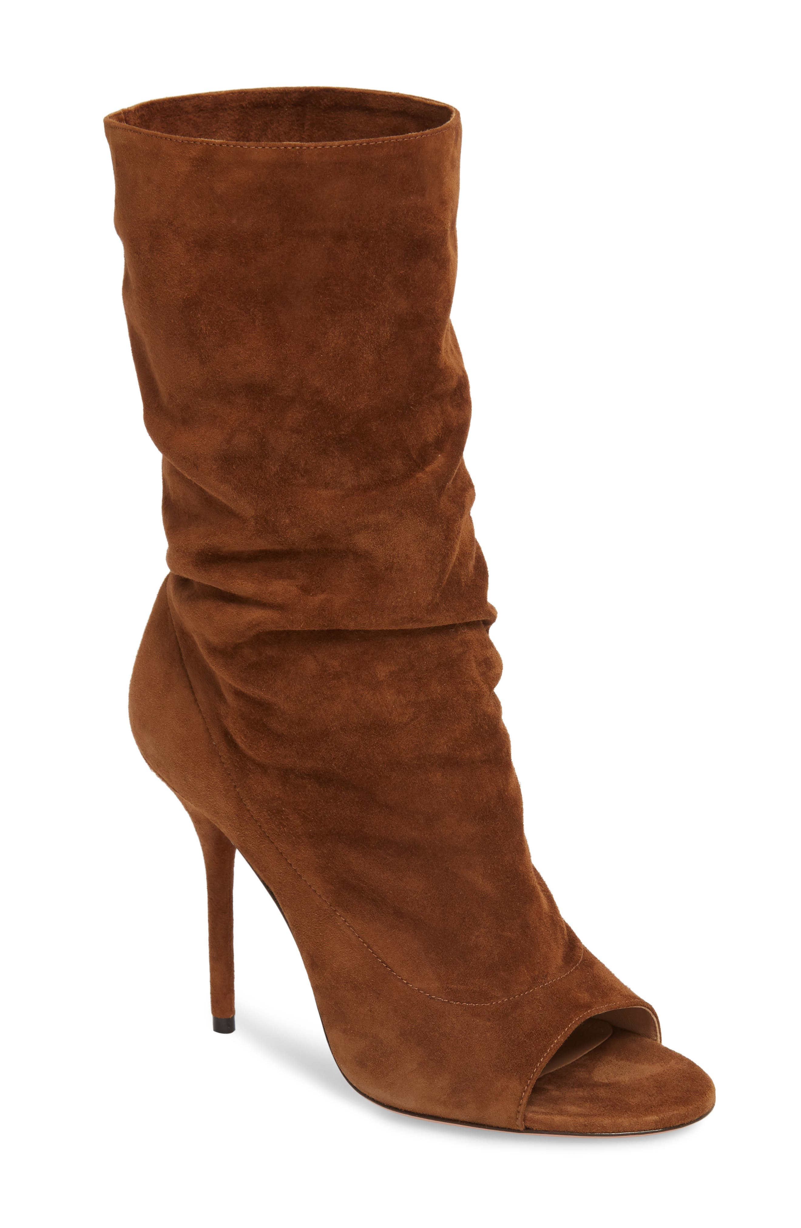 Aquazzura Touché Open Toe Boot (Women)