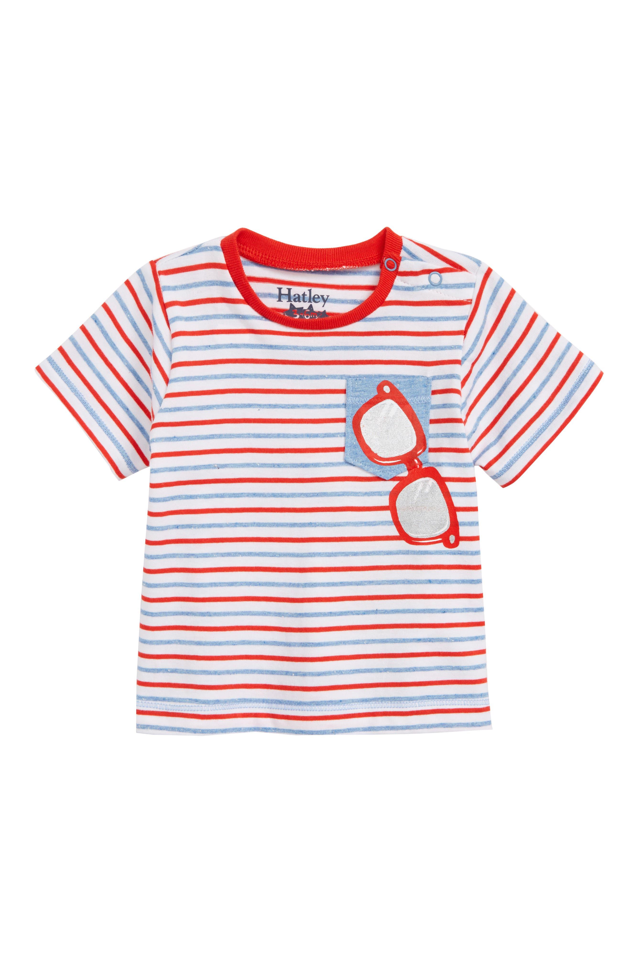 Stripe T-Shirt,                             Main thumbnail 1, color,                             Sunny Shades