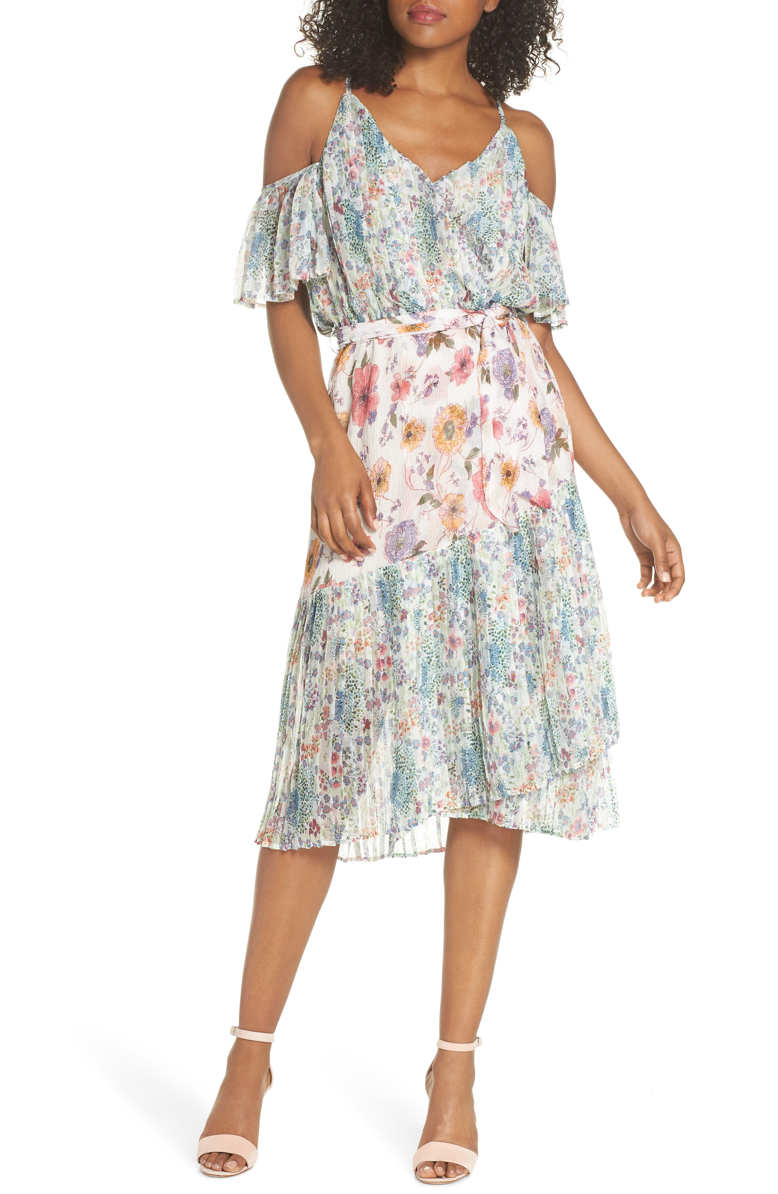 Furiosa Cold Shoulder Dress,                             Main thumbnail 1, color,                             Furiosa Multi