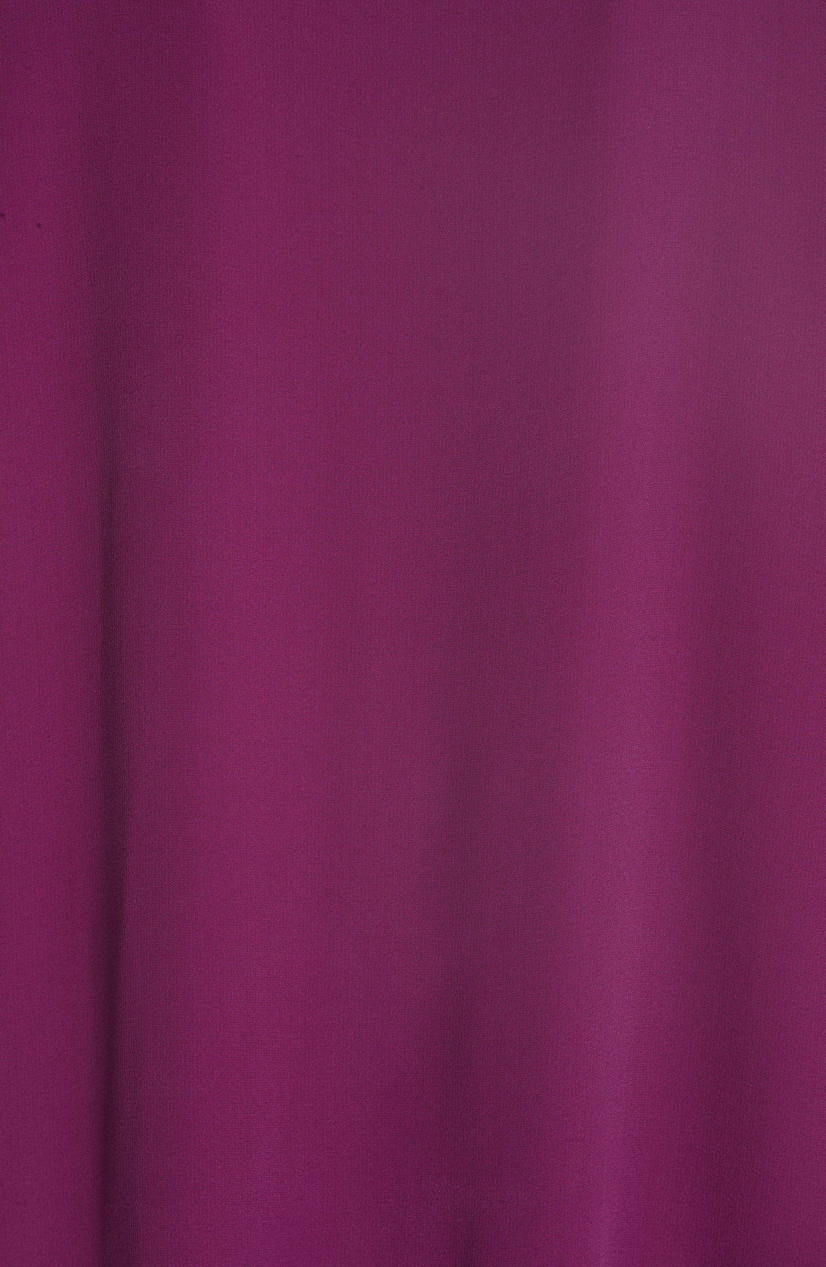 High/Low Silk Top,                             Alternate thumbnail 6, color,                             Boysenberry