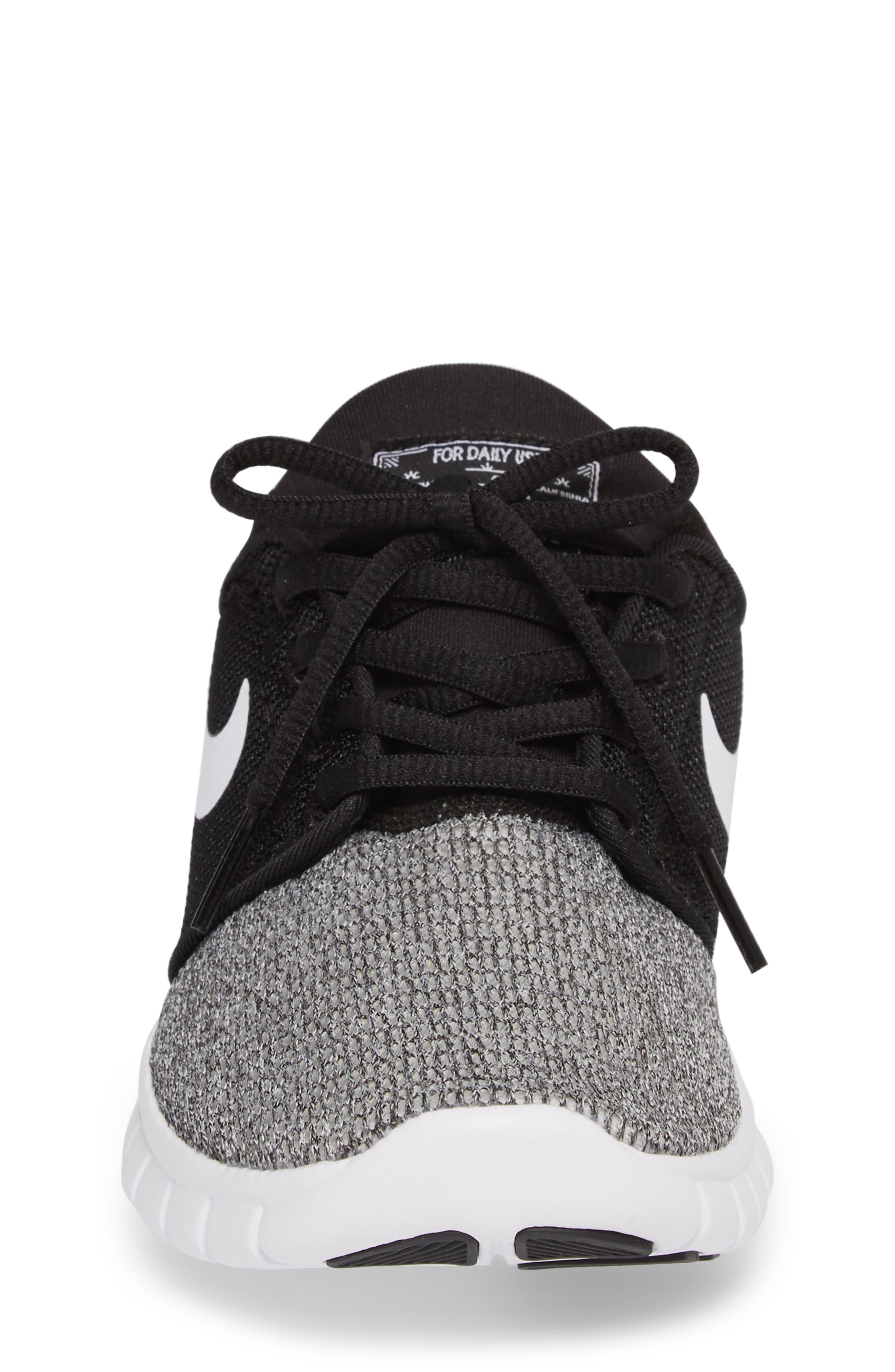 Stefan Janoski Max SB Skate Sneaker,                             Alternate thumbnail 4, color,                             Black/ White/ White