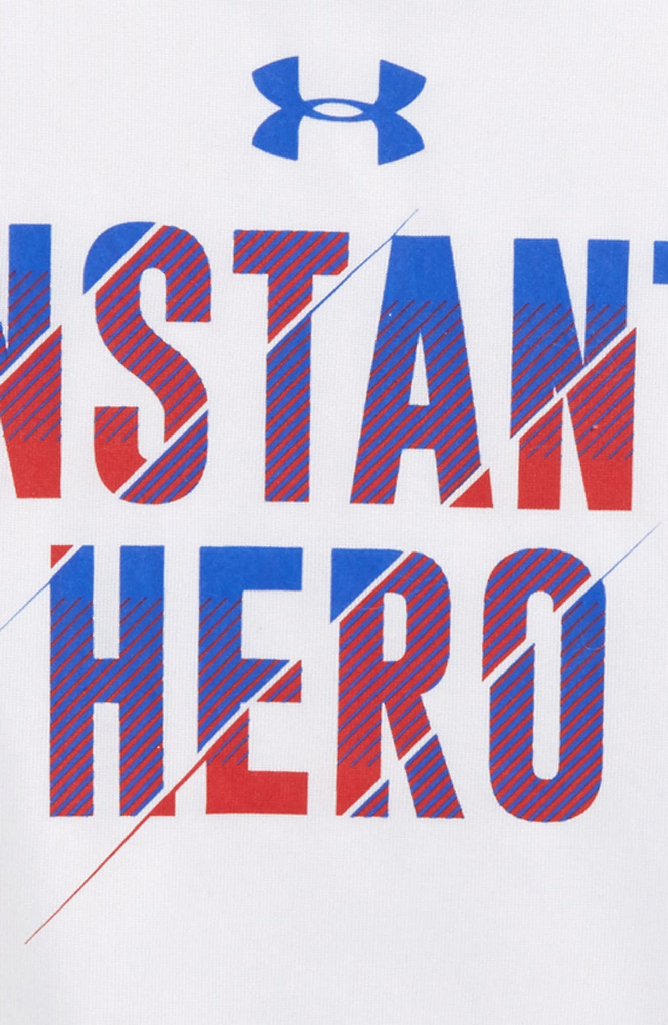 Instant Hero HeatGear<sup>®</sup> T-Shirt,                             Alternate thumbnail 2, color,                             White