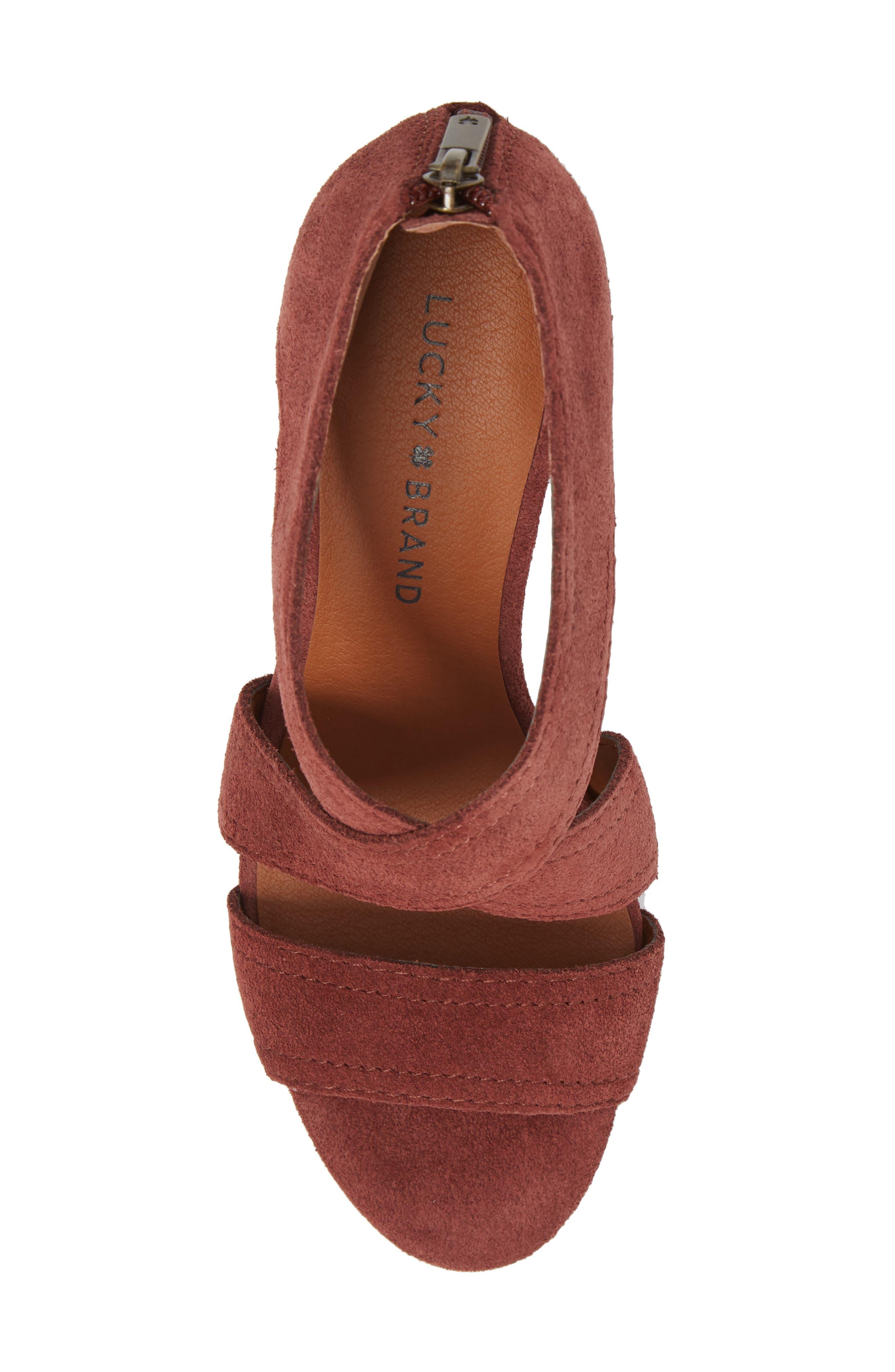 Vidva Strappy Sandal,                             Alternate thumbnail 5, color,                             Burgundy Suede