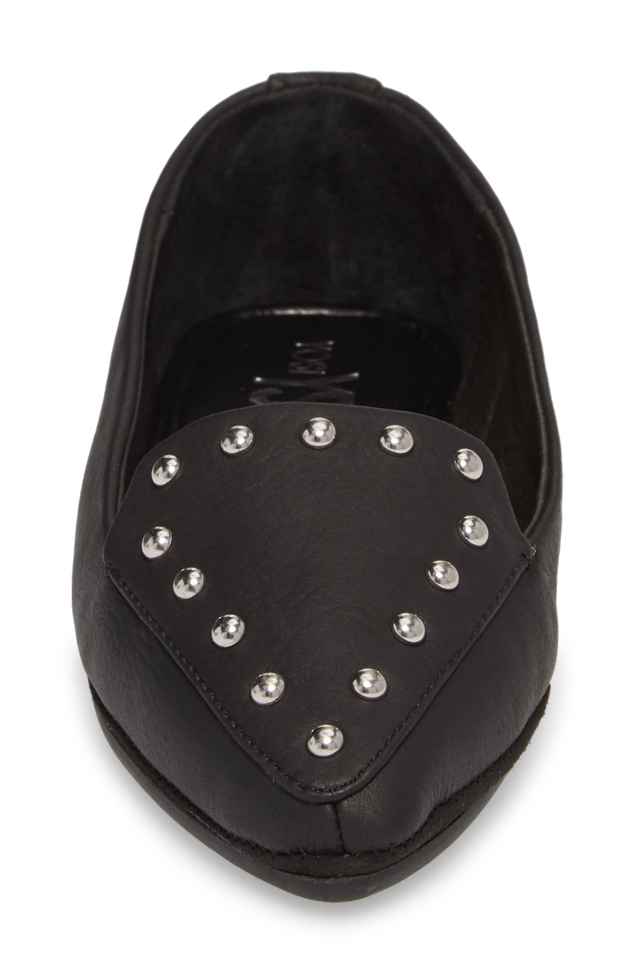 Vera Loafer,                             Alternate thumbnail 4, color,                             Black Stud Leather