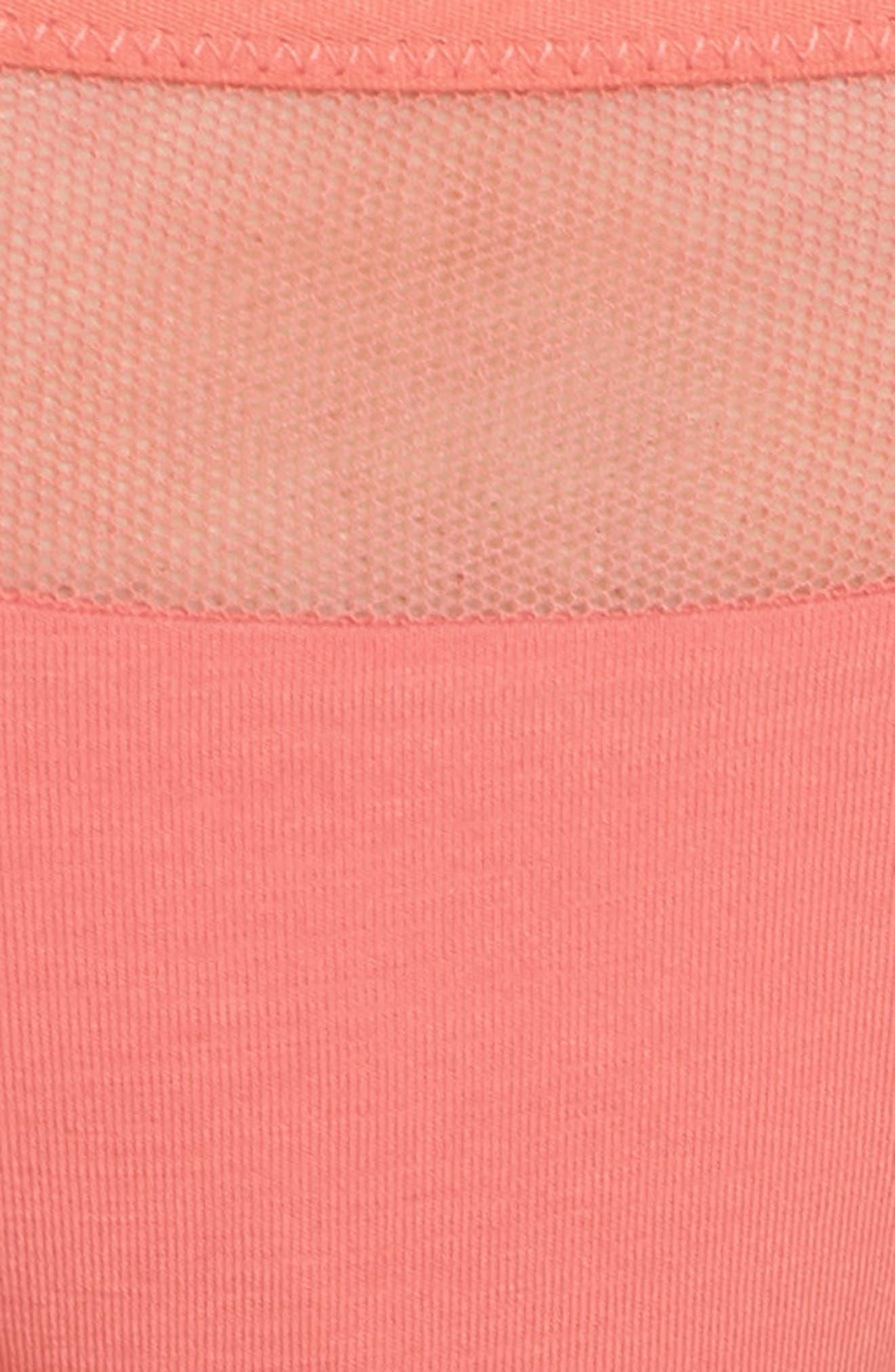 Onyx Tulle Bikini,                             Alternate thumbnail 8, color,                             Spiced Coral