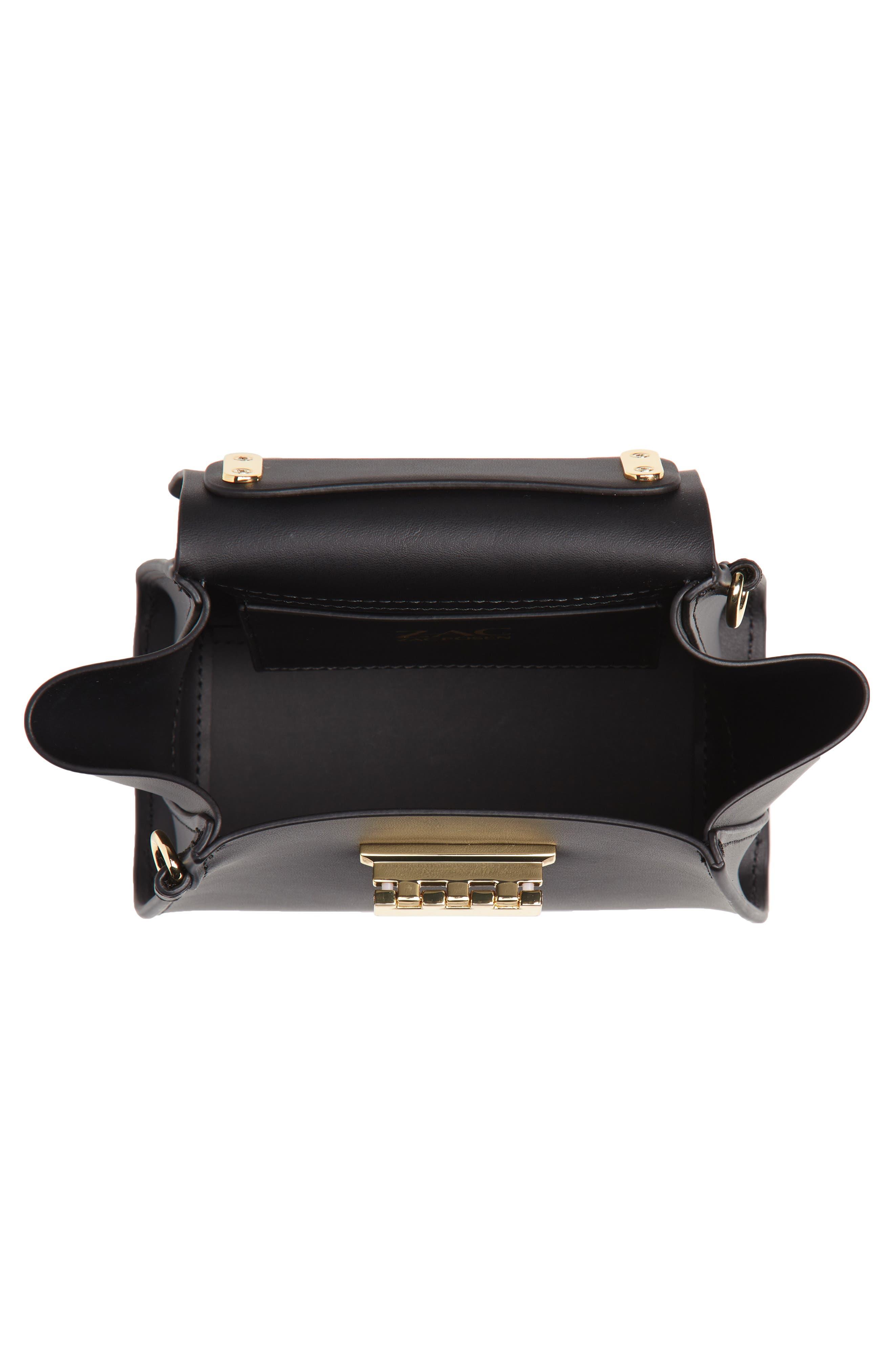 Mini Eartha Iconic Calfskin Leather Top Handle Satchel,                             Alternate thumbnail 4, color,                             Black