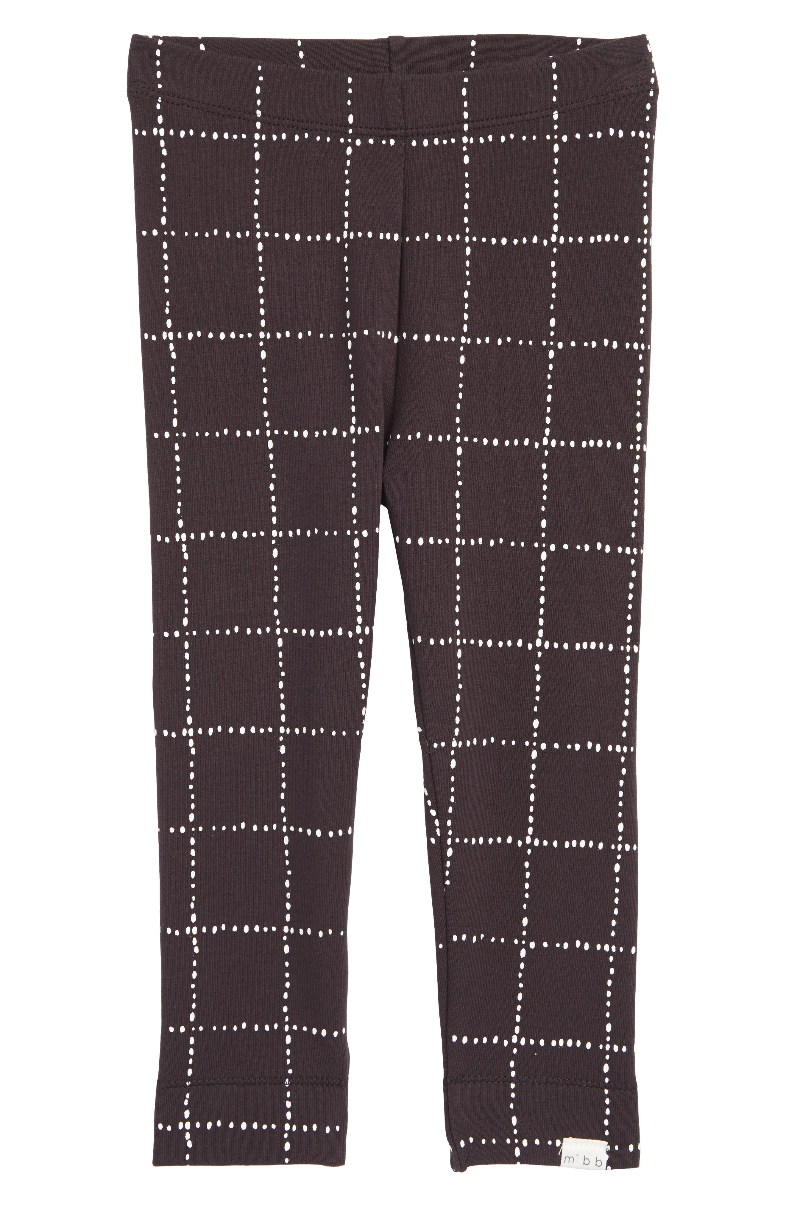 Dot Print Knit Leggings,                             Main thumbnail 1, color,                             Dark Grey