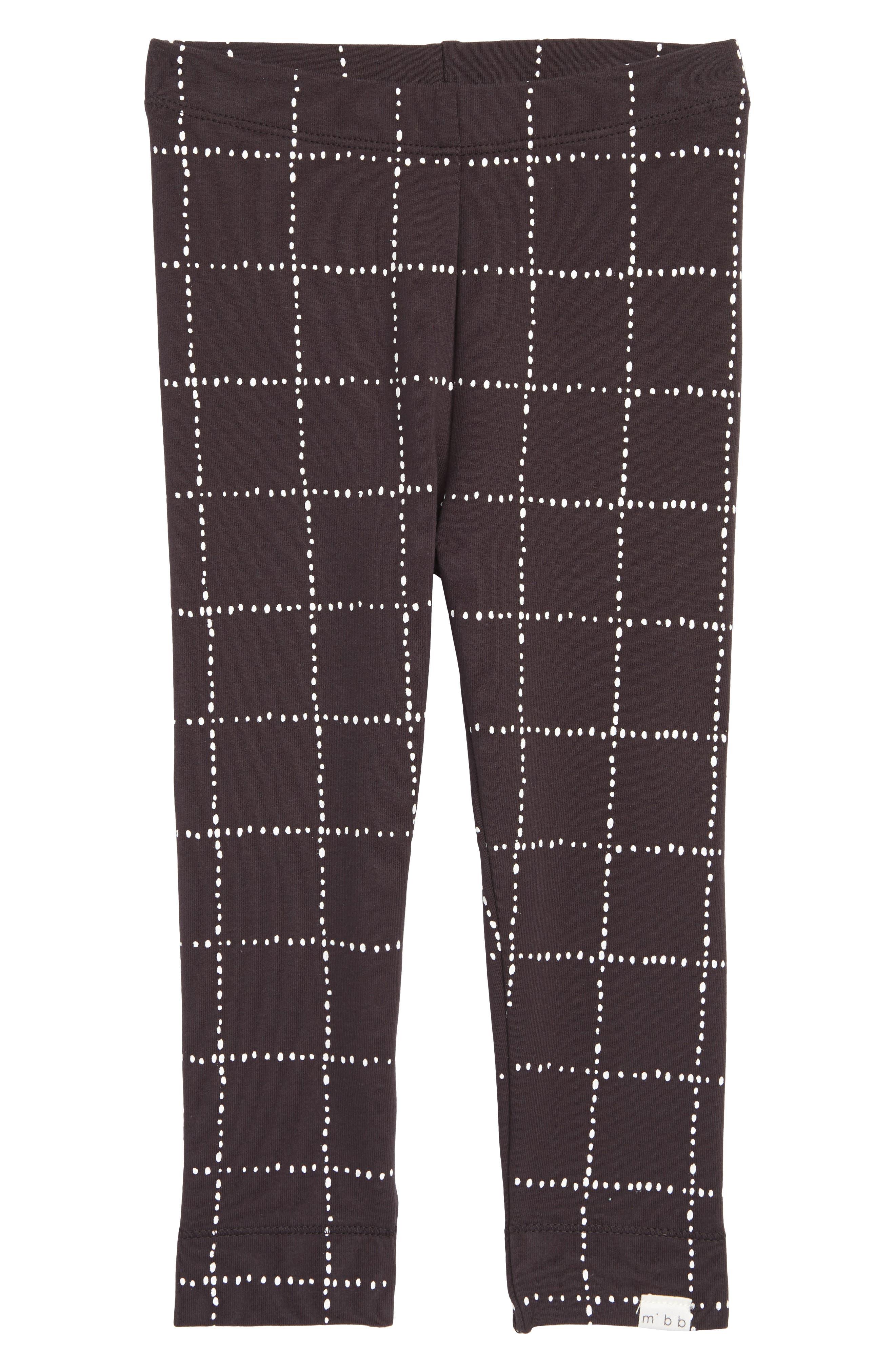 Dot Print Knit Leggings,                         Main,                         color, Dark Grey