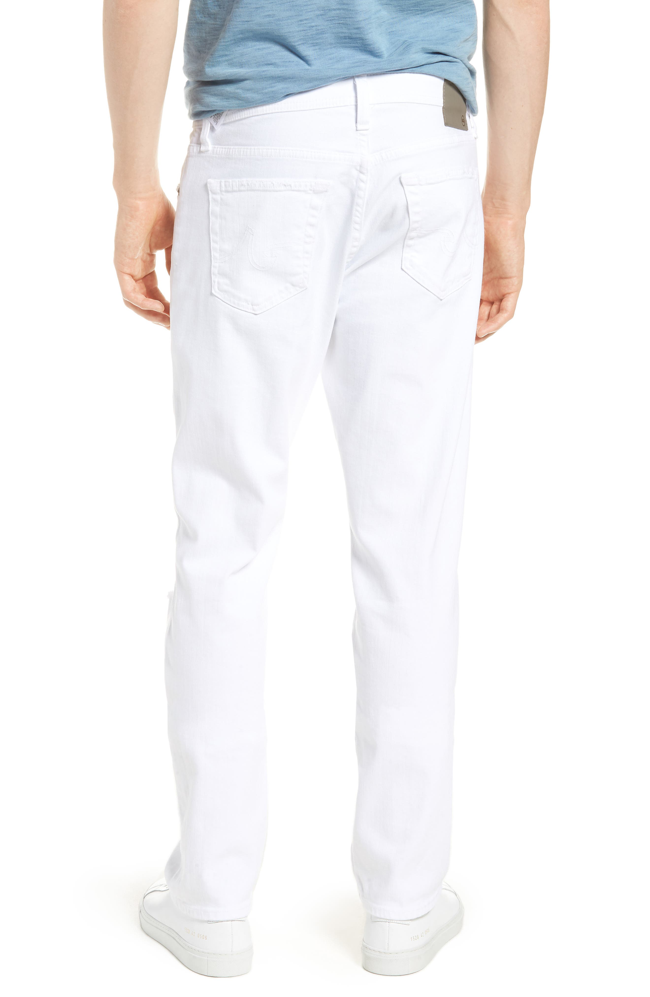 Everett Slim Straight Leg Jeans,                             Alternate thumbnail 2, color,                             White Crash