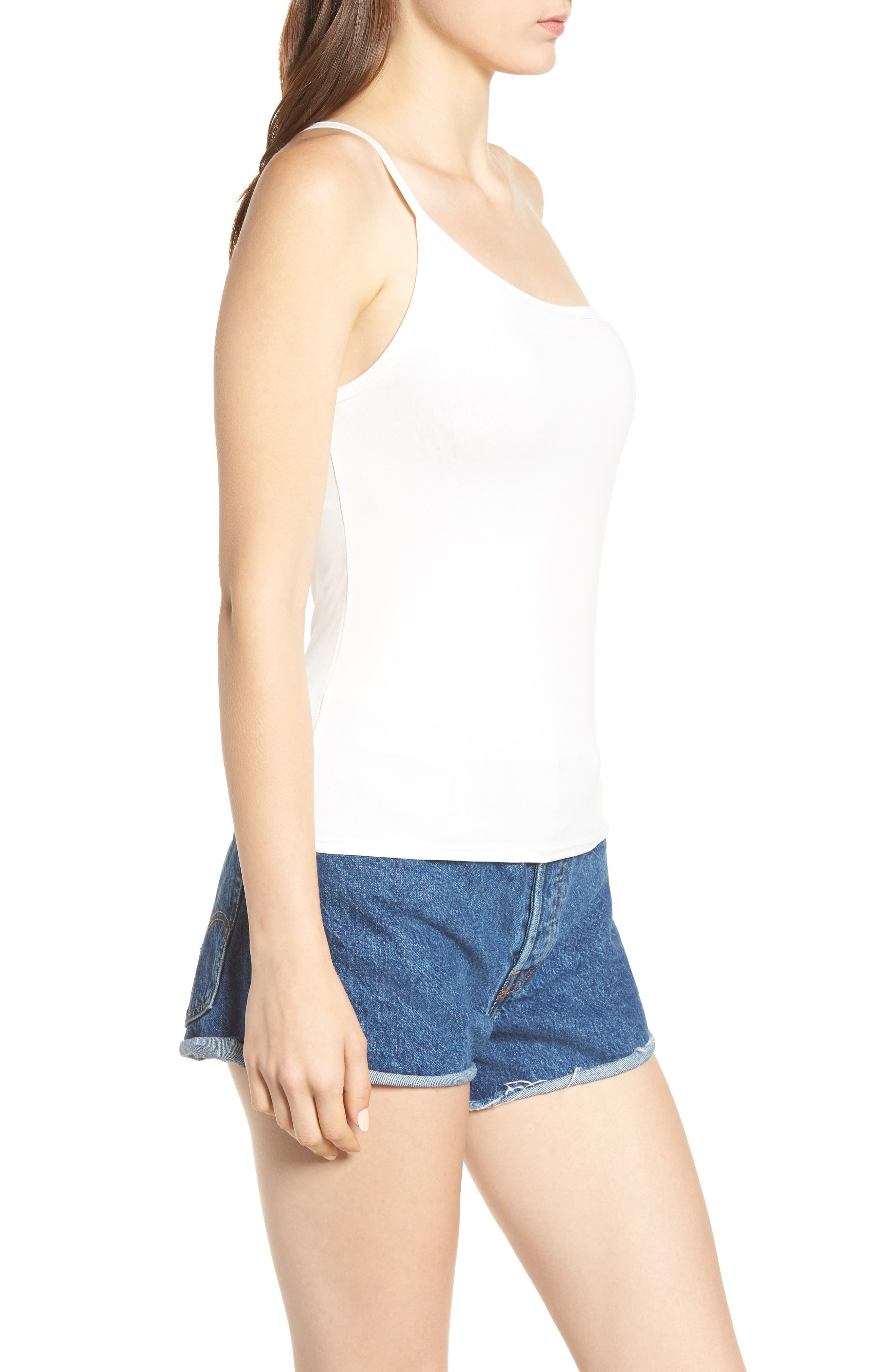 Love Is One-Shoulder Camisole,                             Alternate thumbnail 3, color,                             Ivory