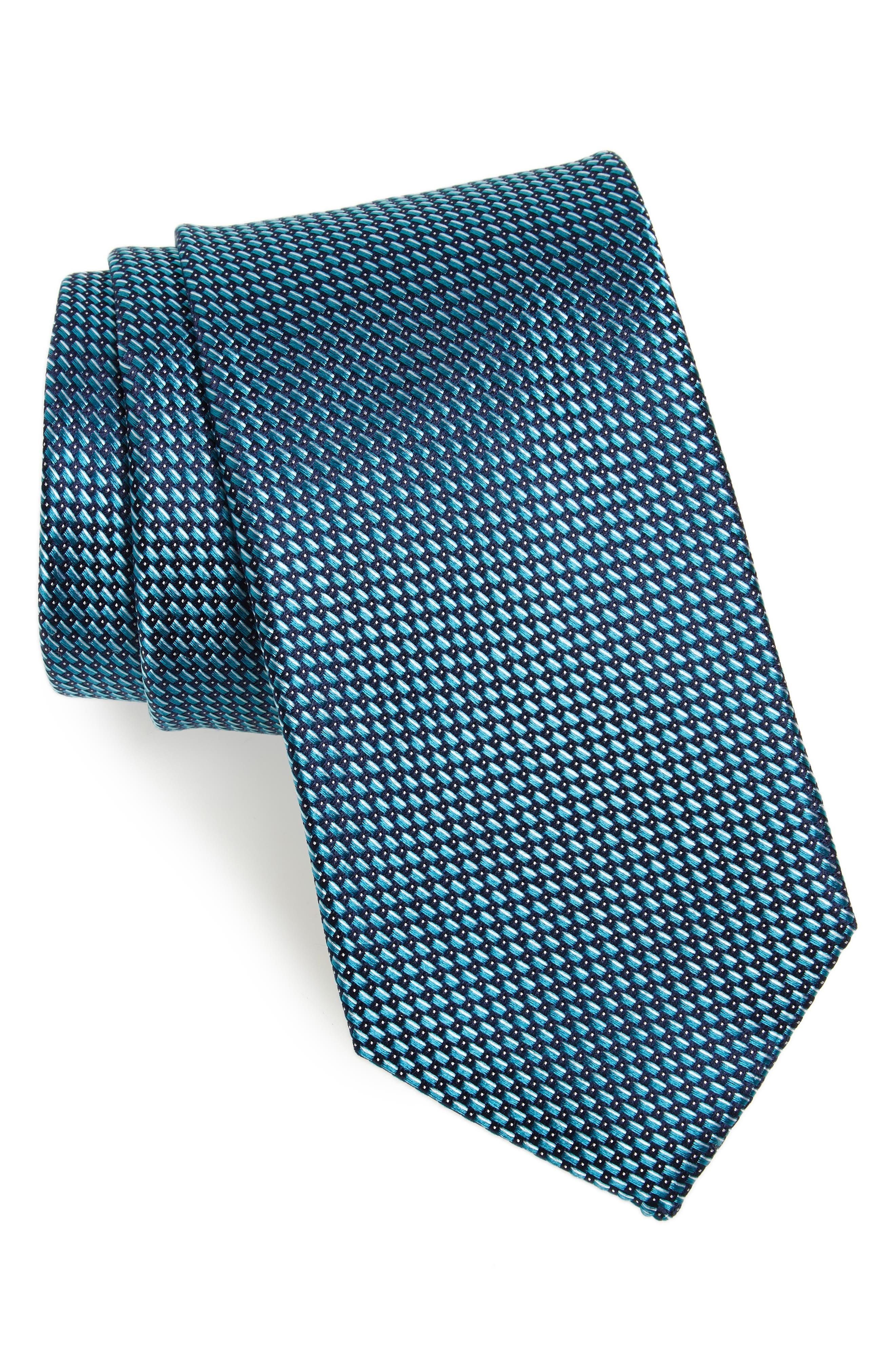 Lairson Micro Silk Tie,                             Main thumbnail 1, color,                             Mint