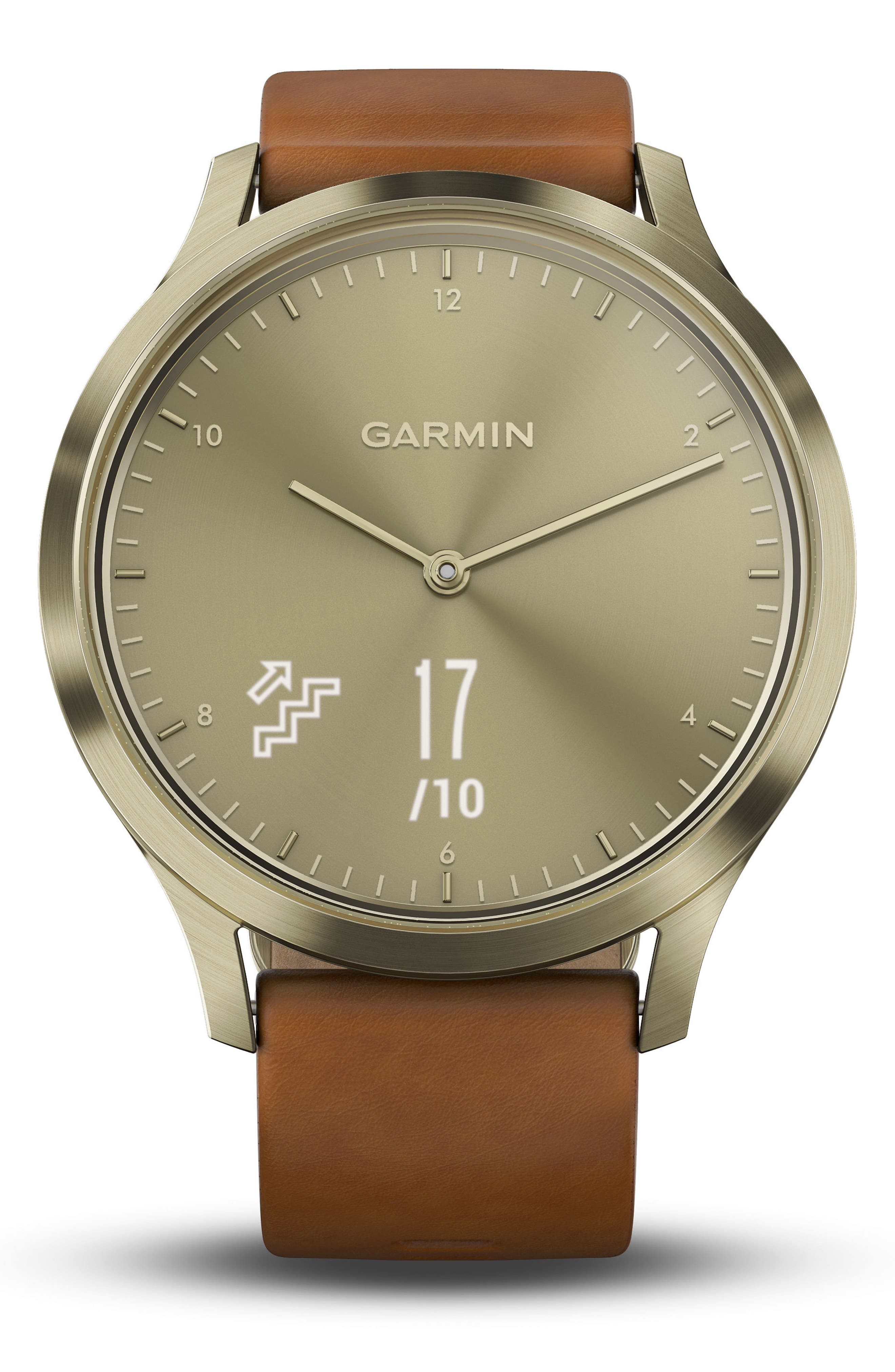 Vivomove HR Hybrid Smart Watch,                             Alternate thumbnail 6, color,                             Light Brown/ Gold/ Gold