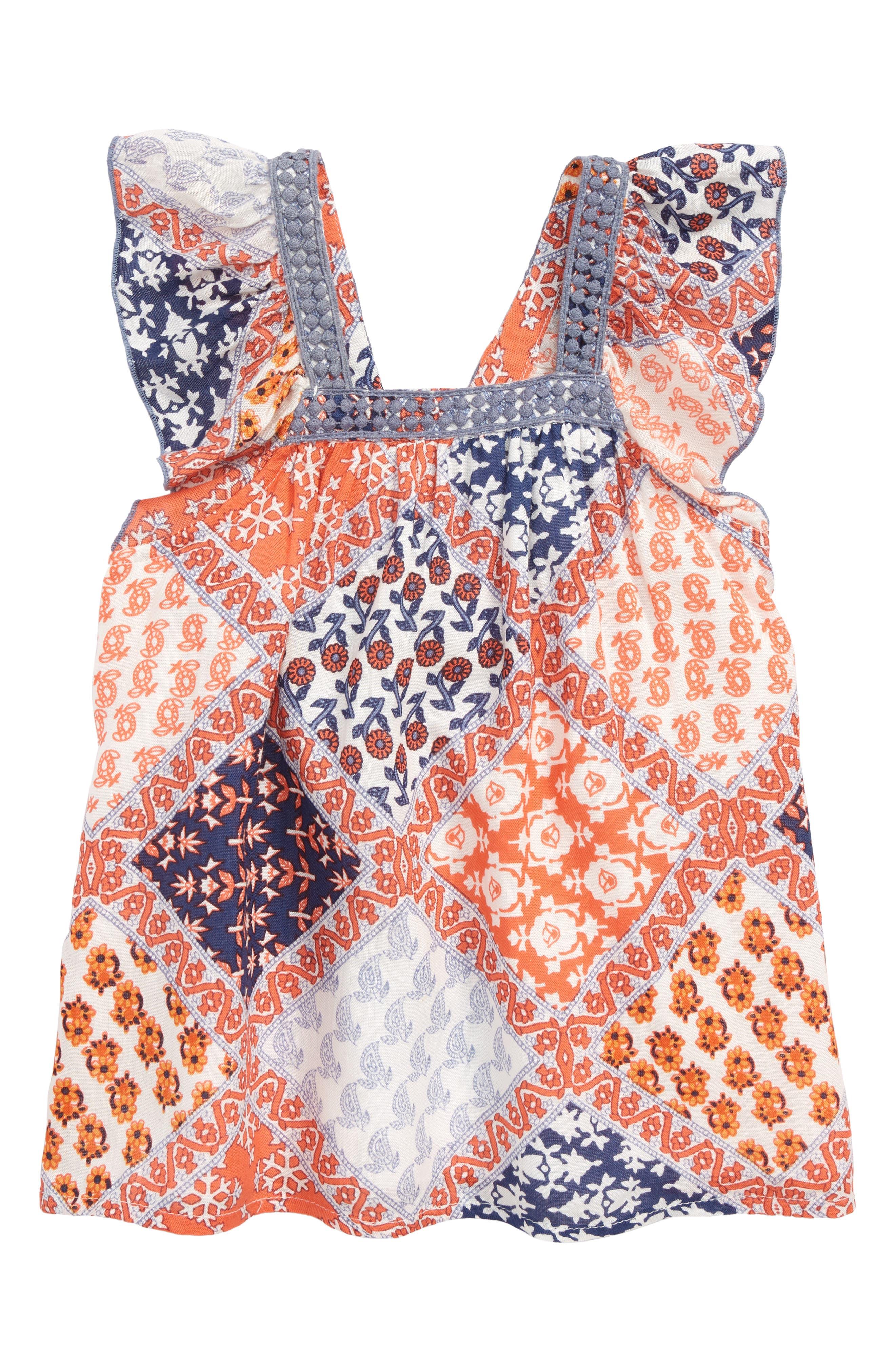 Molly Patch Top,                         Main,                         color, Orange