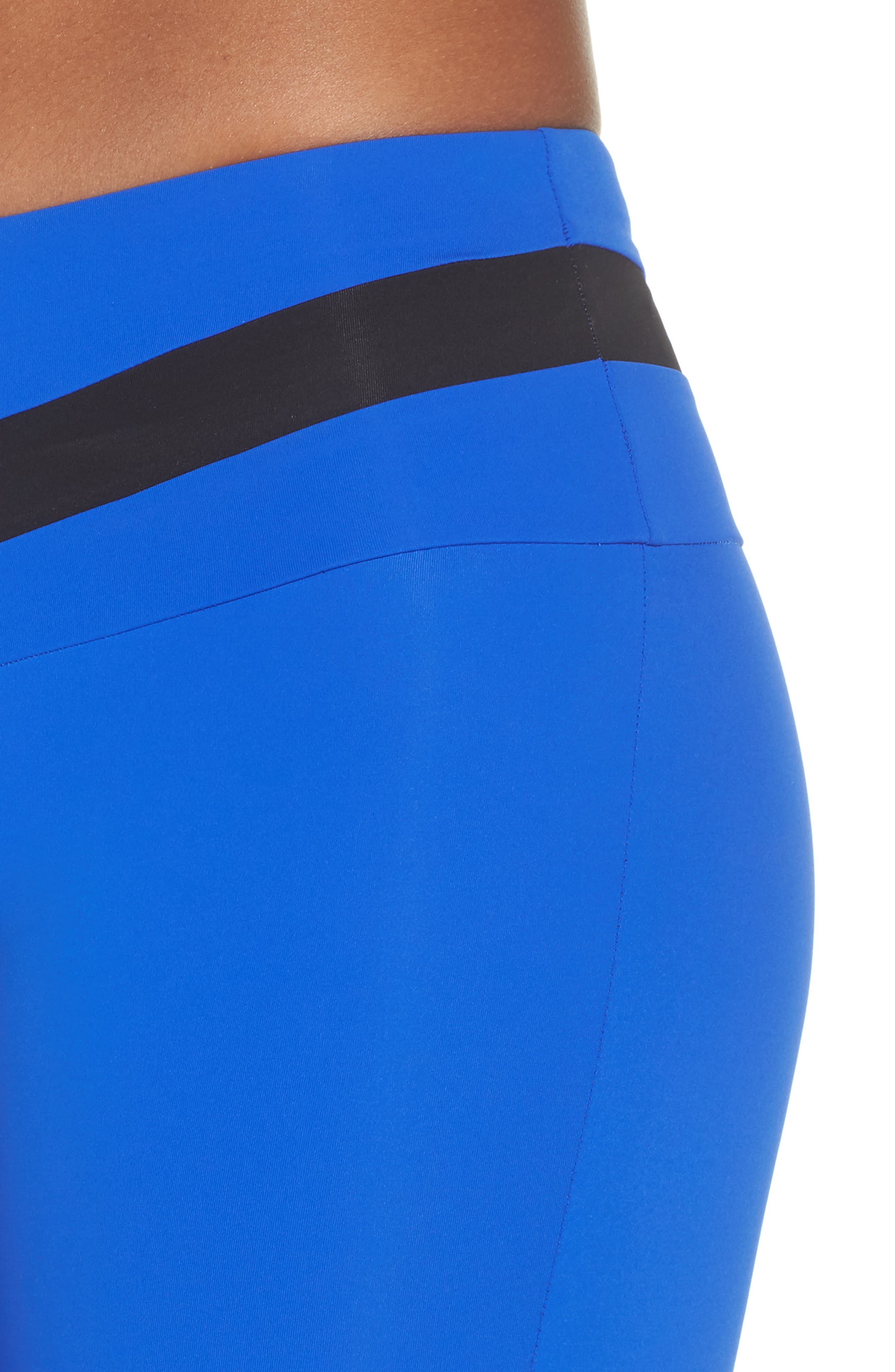 BoomBoom Athletica Tricolor Leggings,                             Alternate thumbnail 4, color,                             Cobalt Blue/ Black