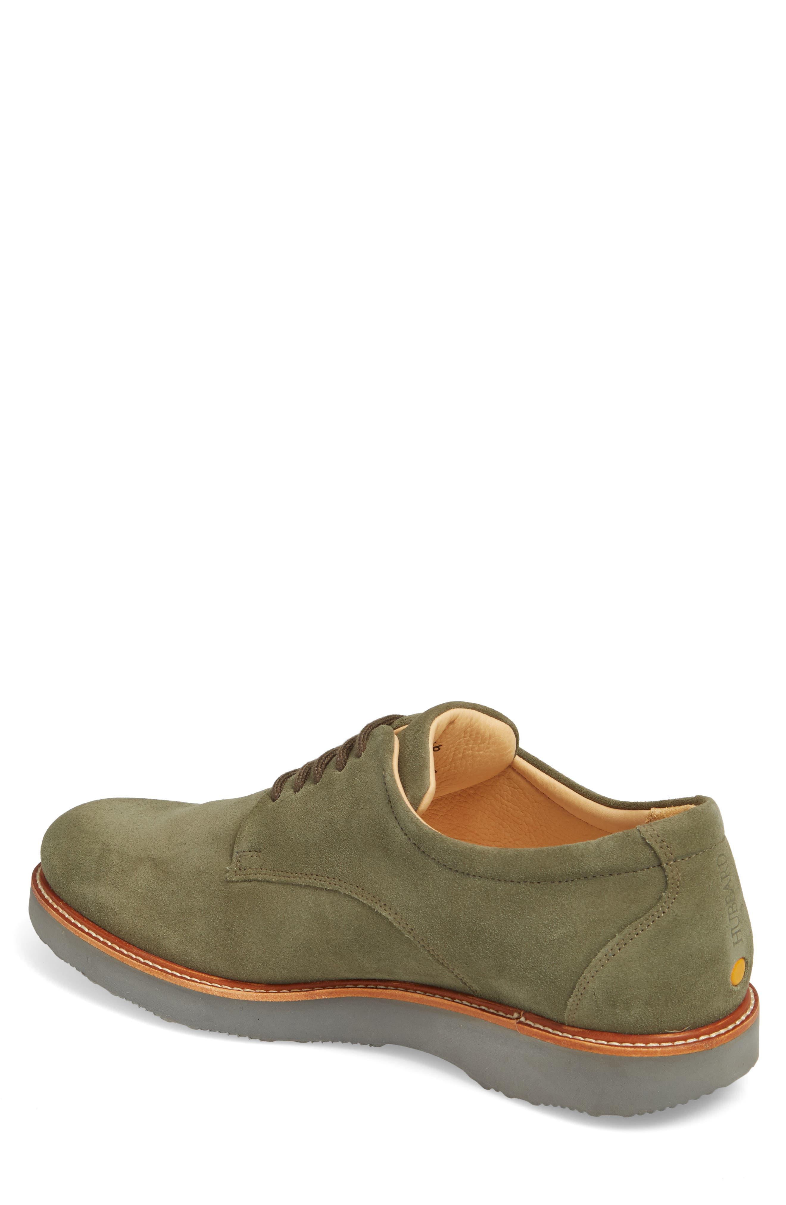 The Bucks Plain Toe Derby,                             Alternate thumbnail 2, color,                             Moss Suede