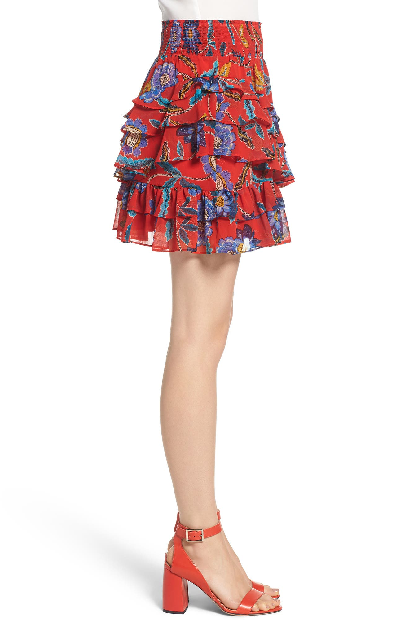 Lila Skirt,                             Alternate thumbnail 3, color,                             Red Multi