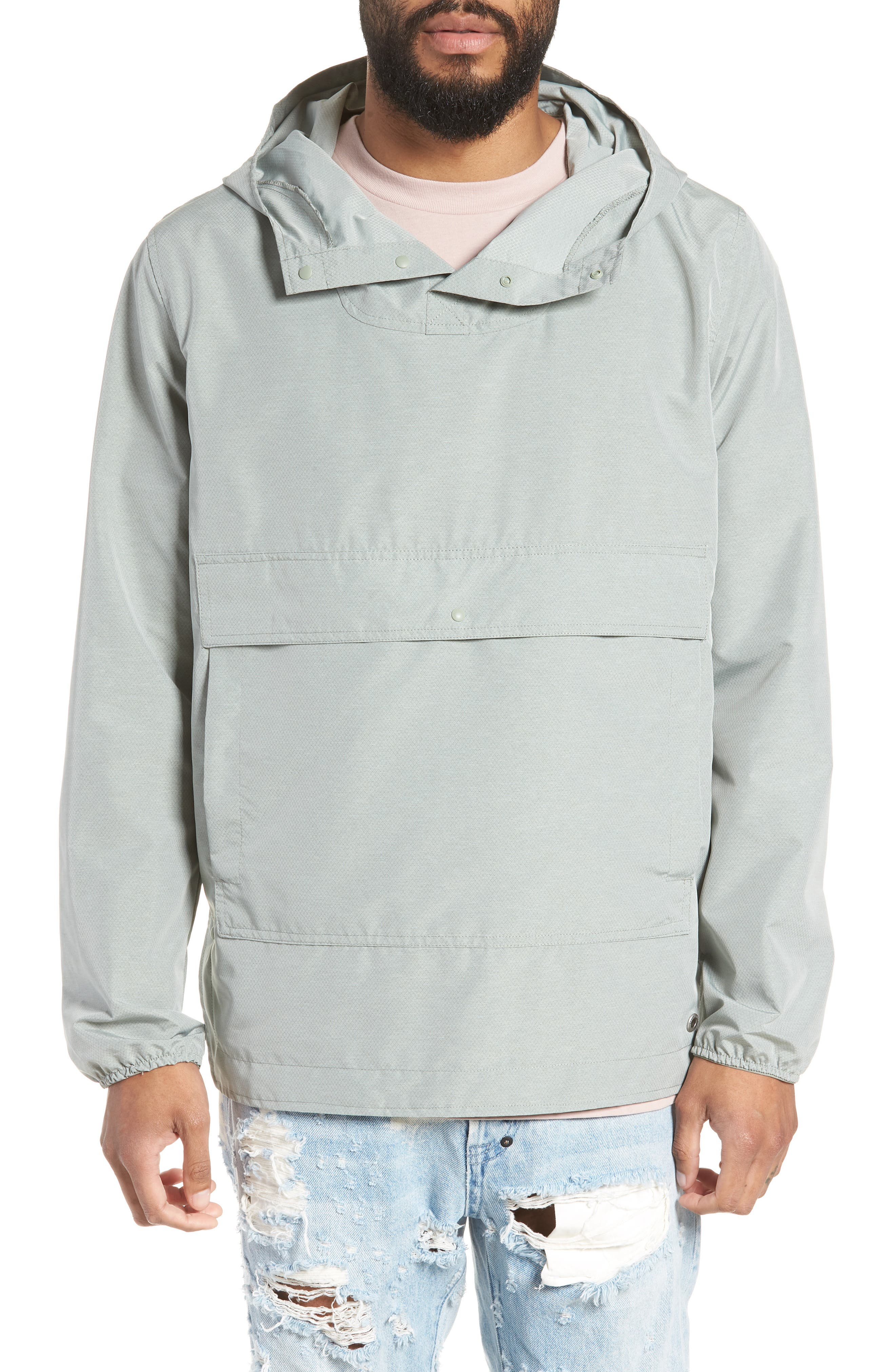 Voyage Anorak,                             Main thumbnail 1, color,                             Shadow Crosshatch / Black