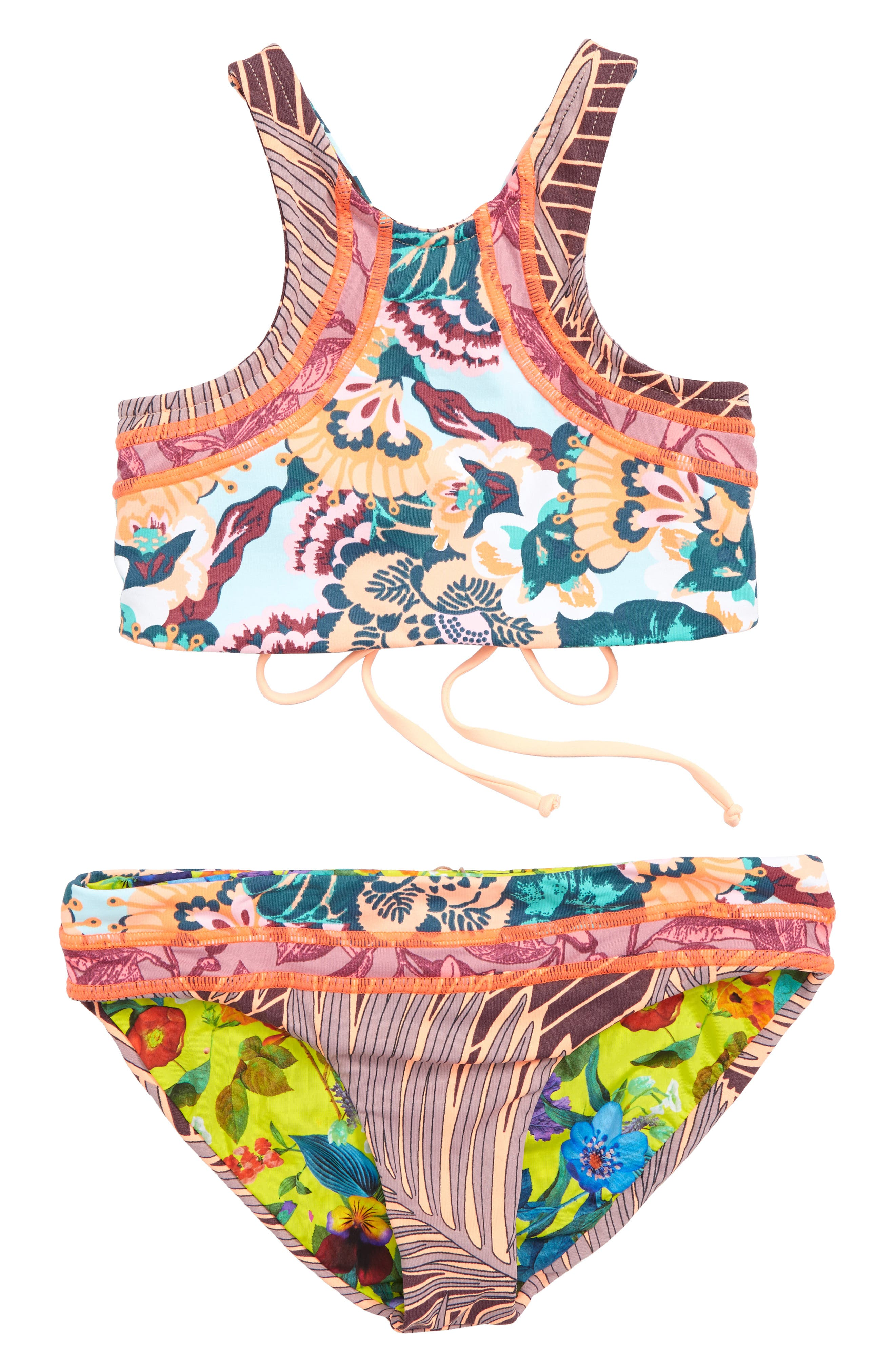 Dusty Storm Reversible Two-Piece Swimsuit,                             Main thumbnail 1, color,                             Pink