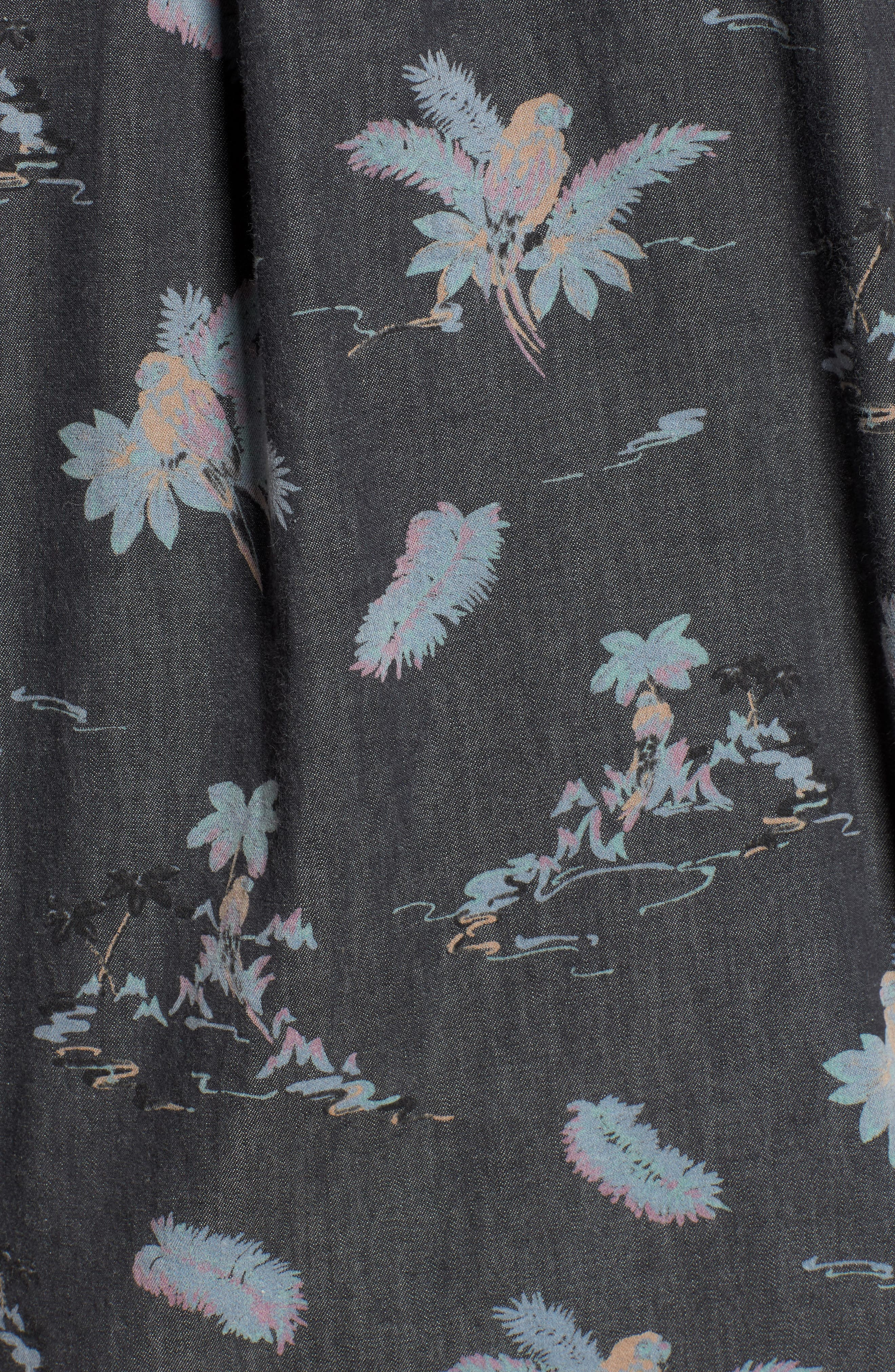 Meledrone Woven Shirt,                             Alternate thumbnail 5, color,                             Charcoal Grey