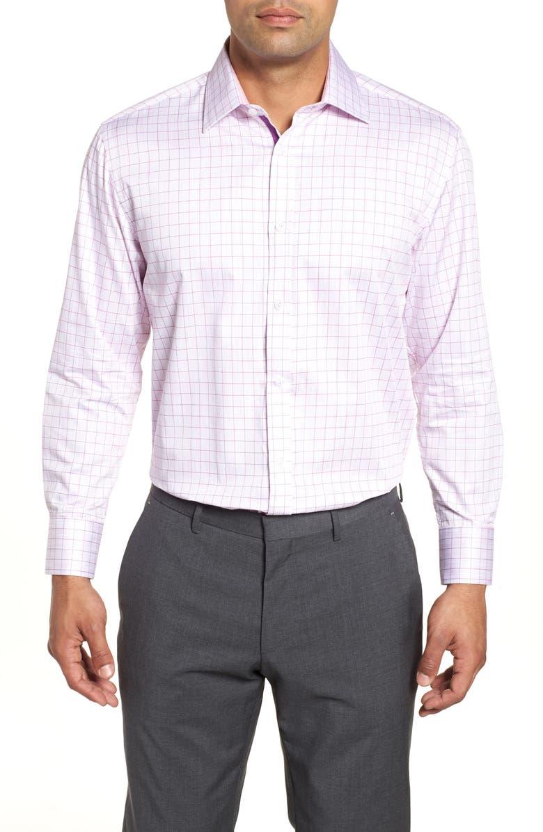 English Laundry Regular Fit Check Dress Shirt In Pink Modesens