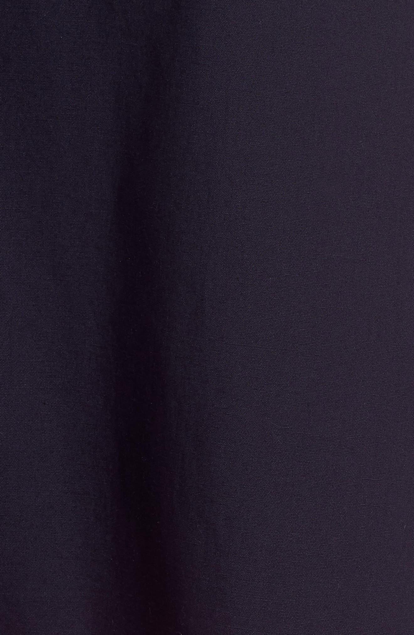 Colorblock Cotton Midi Dress,                             Alternate thumbnail 5, color,                             Navy Red Color Block