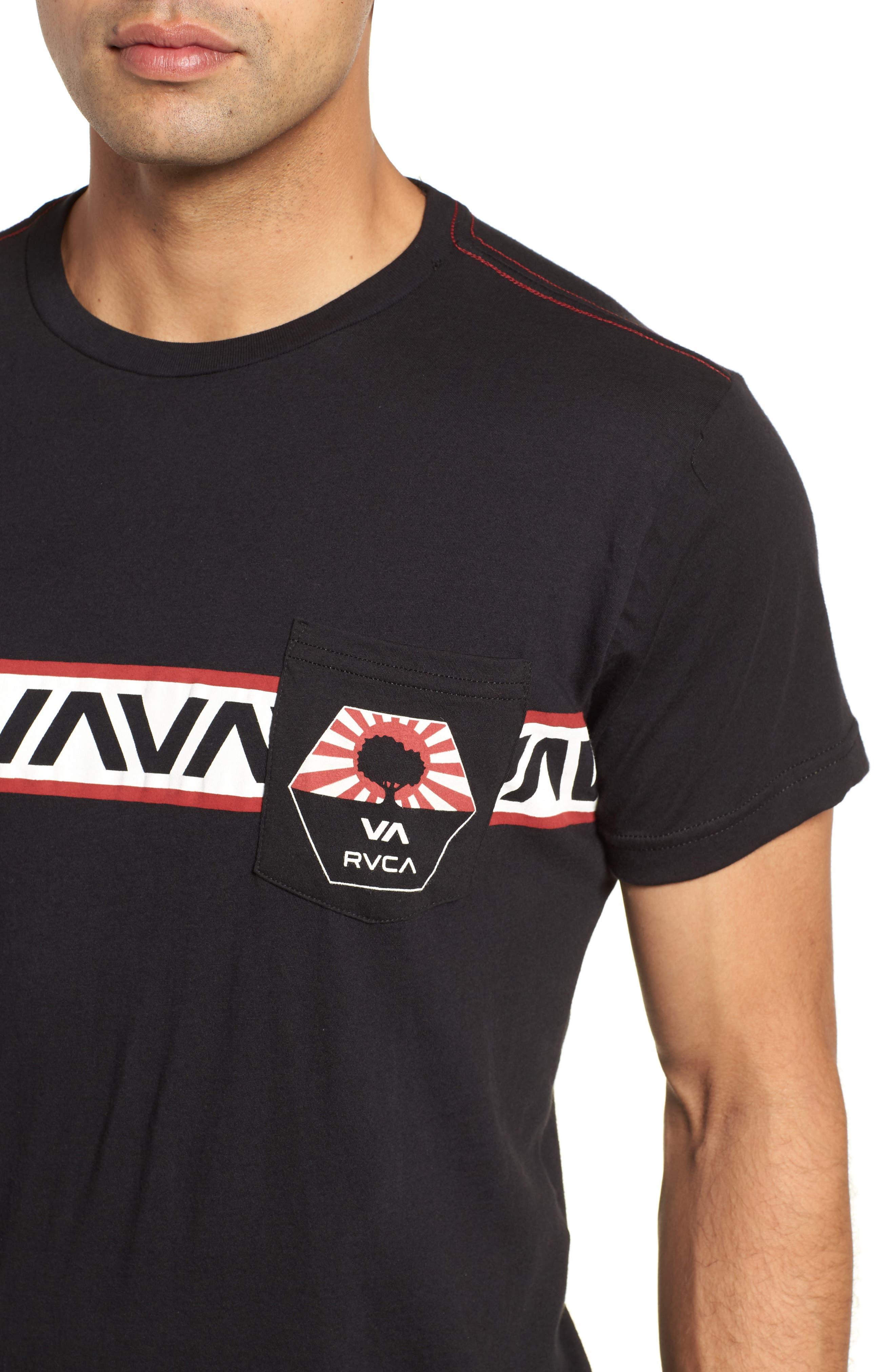 Bruce Pocket T-Shirt,                             Alternate thumbnail 5, color,                             Black