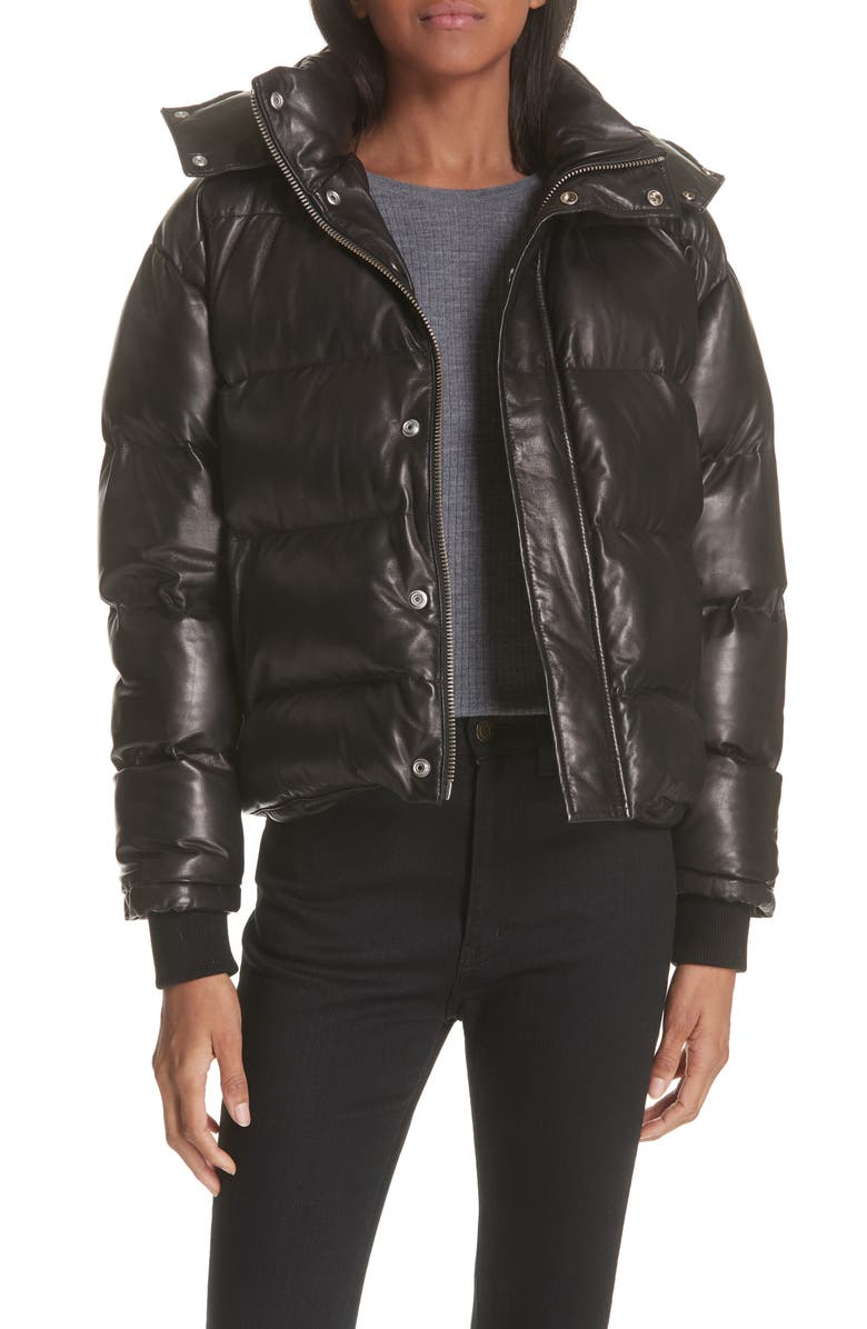 Collyn Leather Puffer Jacket