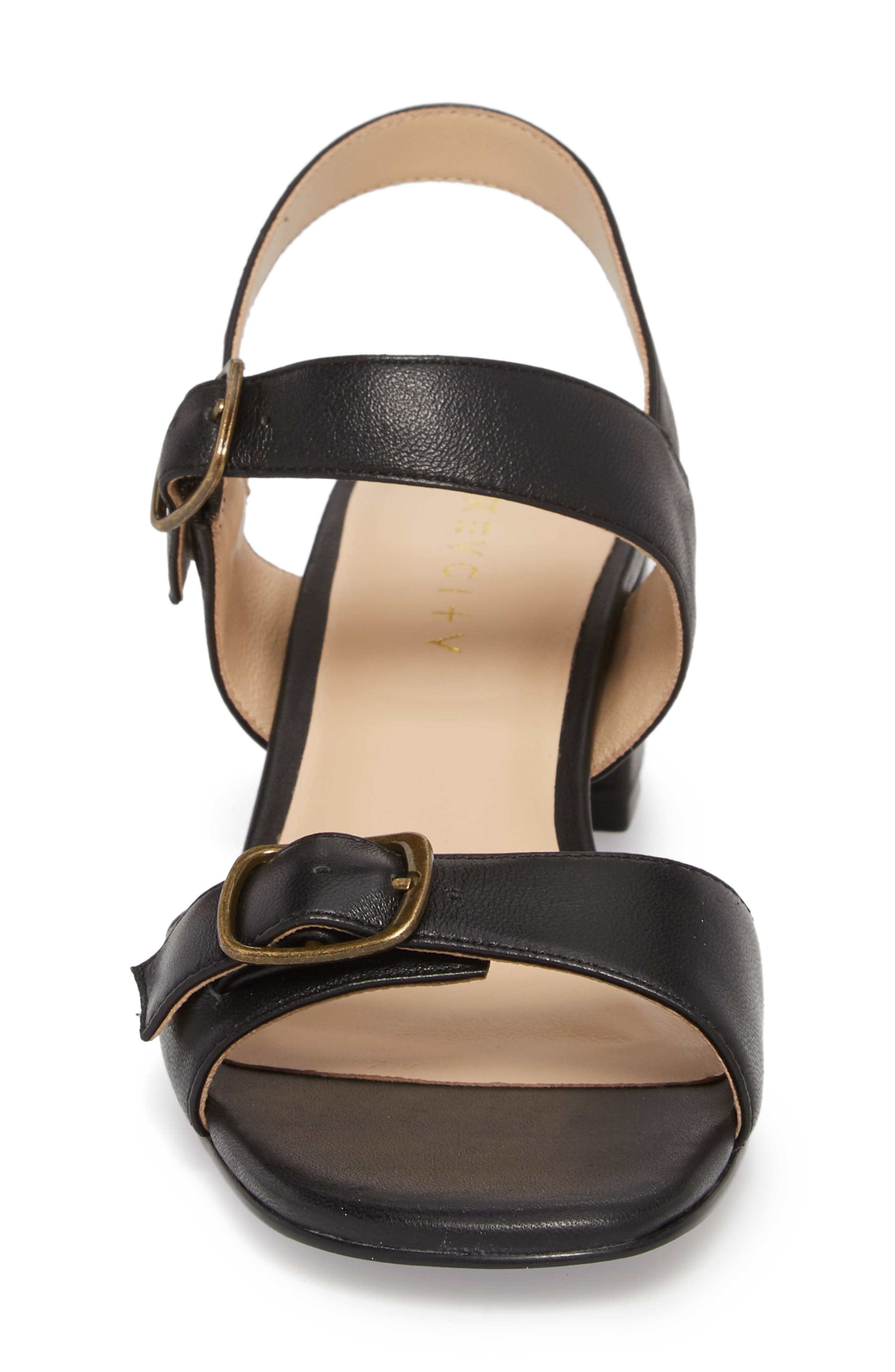 Caroline Sandal,                             Alternate thumbnail 4, color,                             Black
