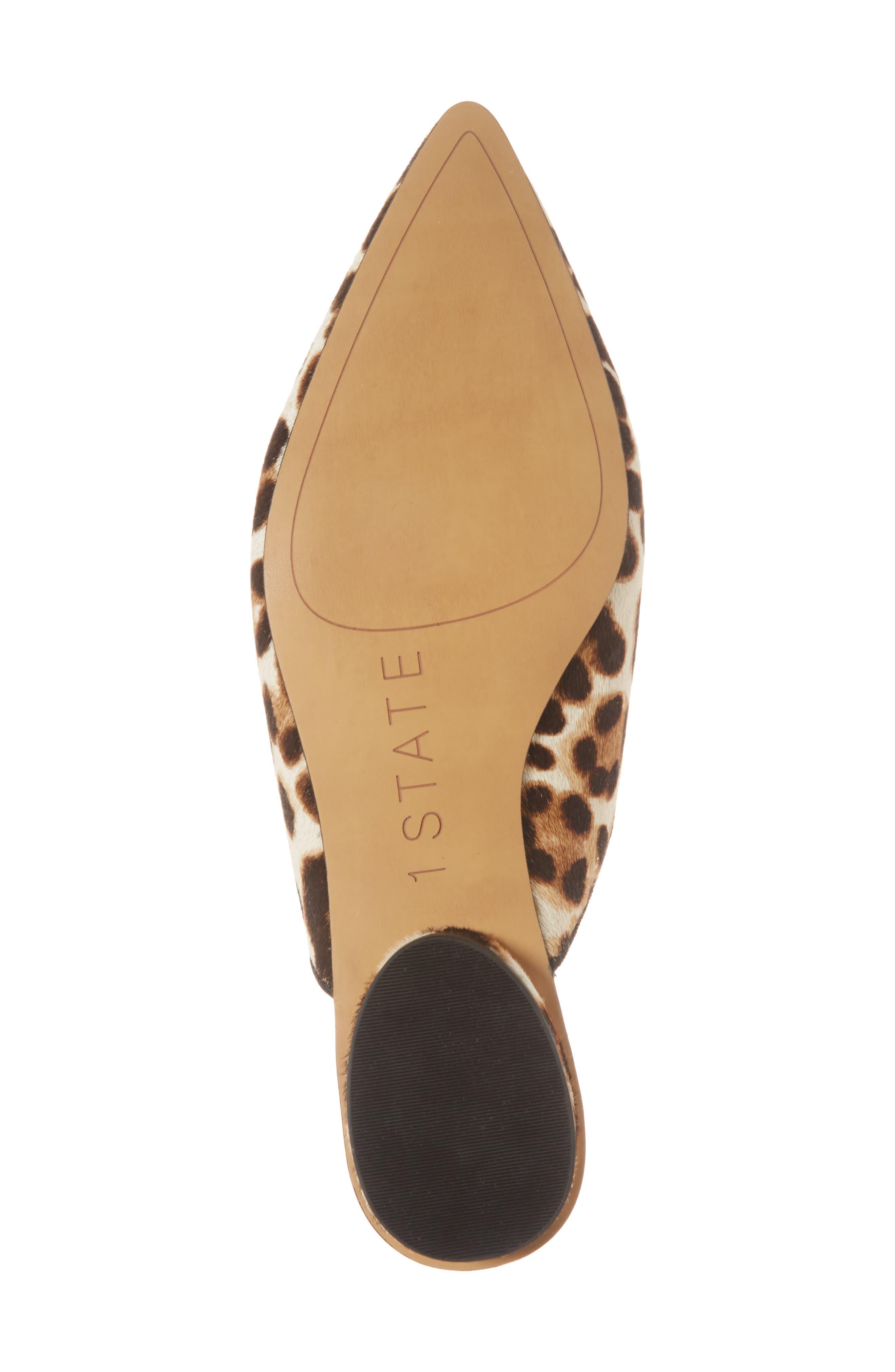 Genia Genuine Calf Hair Mule,                             Alternate thumbnail 6, color,                             Cheetah/ Black Calf Hair