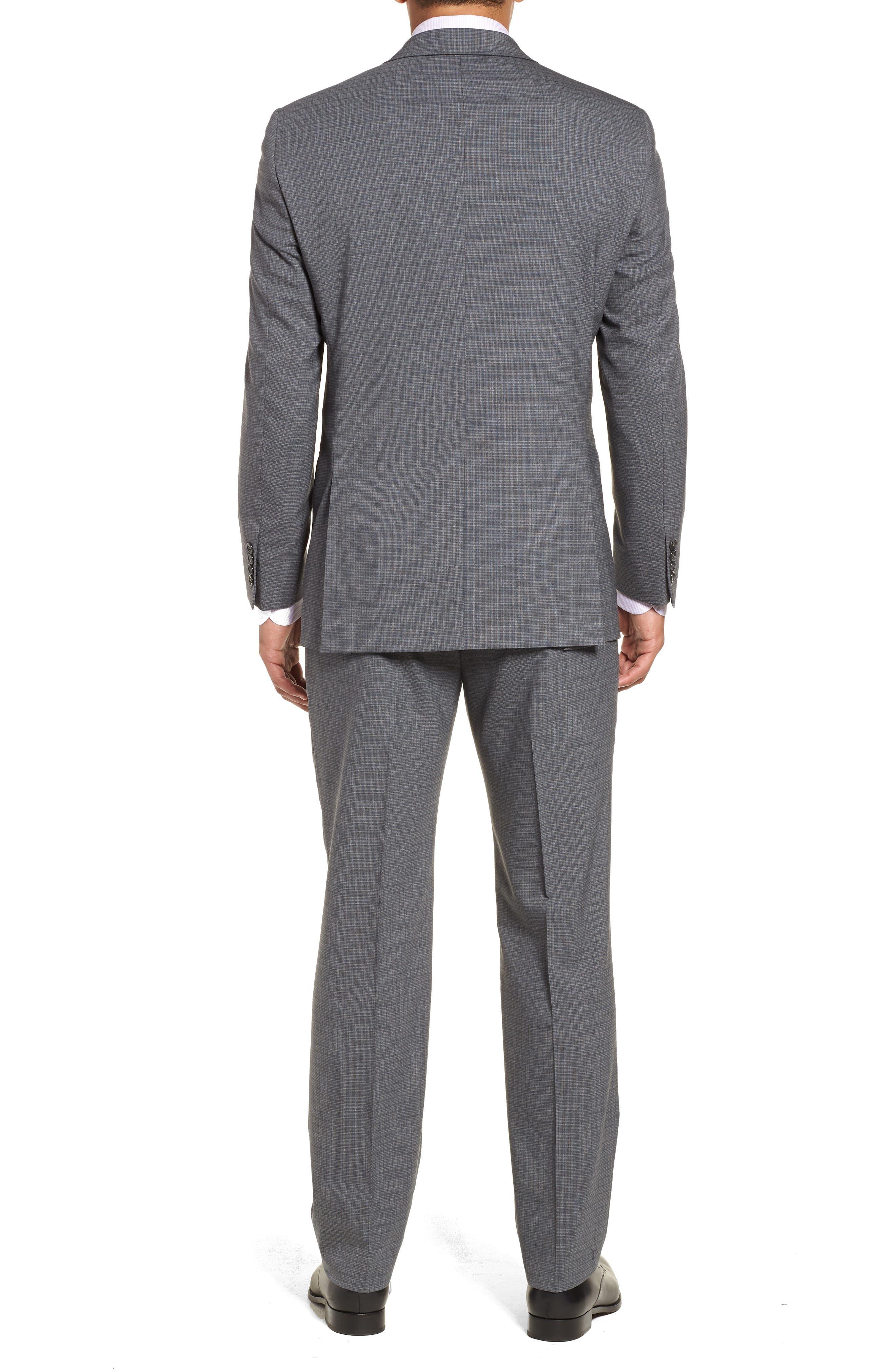 Classic Fit Stretch Plaid Wool Suit,                             Alternate thumbnail 2, color,                             Grey Plaid