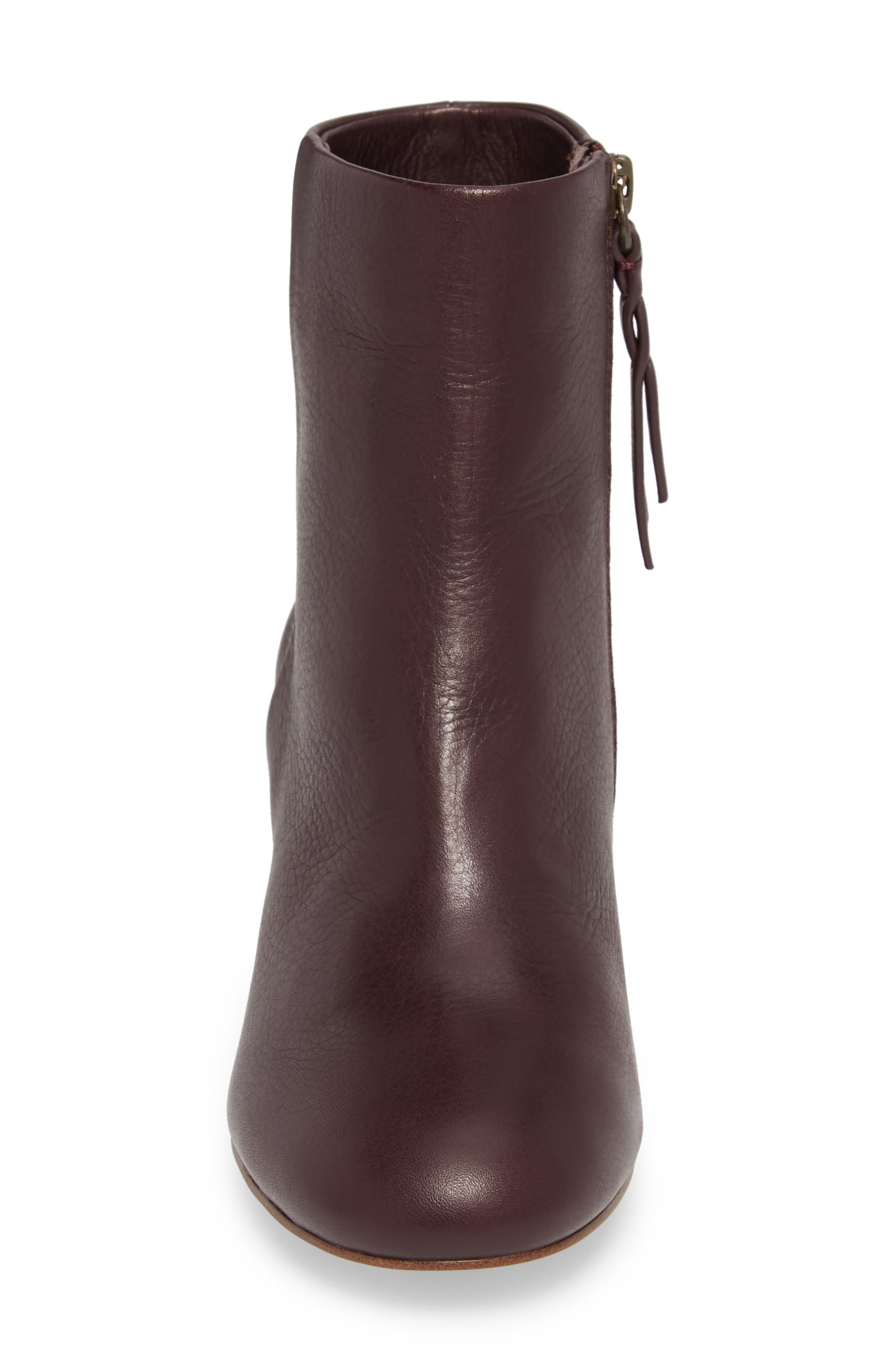 Nixie II Bootie,                             Alternate thumbnail 4, color,                             Deep Plum Leather