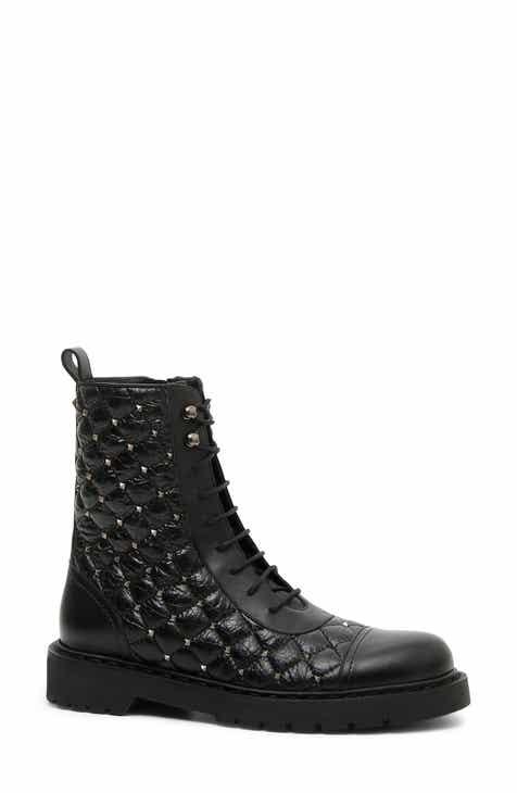 21437280b477d0 VALENTINO GARAVANI Rockstud Quilted Combat Boot (Women)