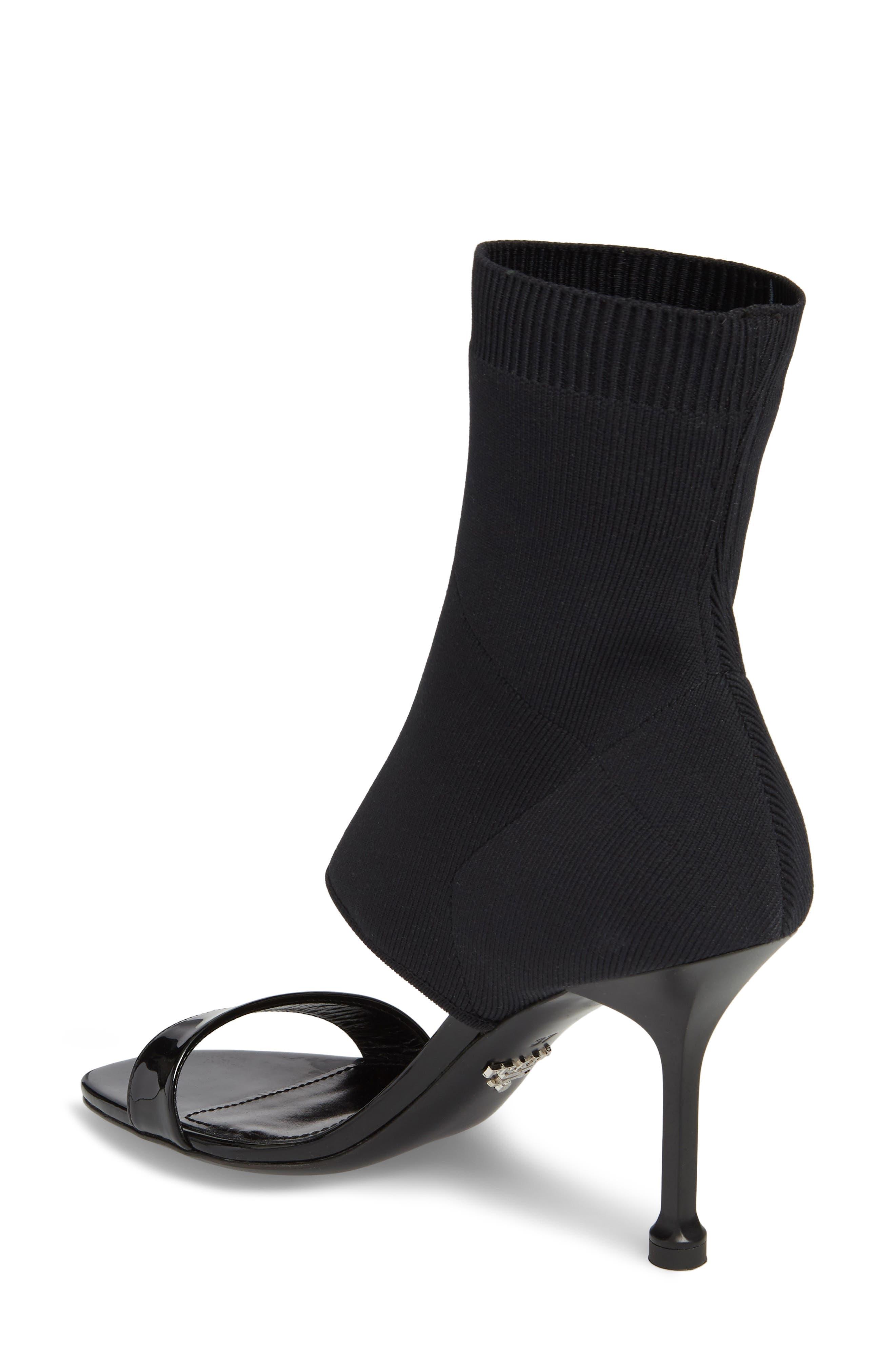 Sock Shaft Sandal,                             Alternate thumbnail 2, color,                             Black