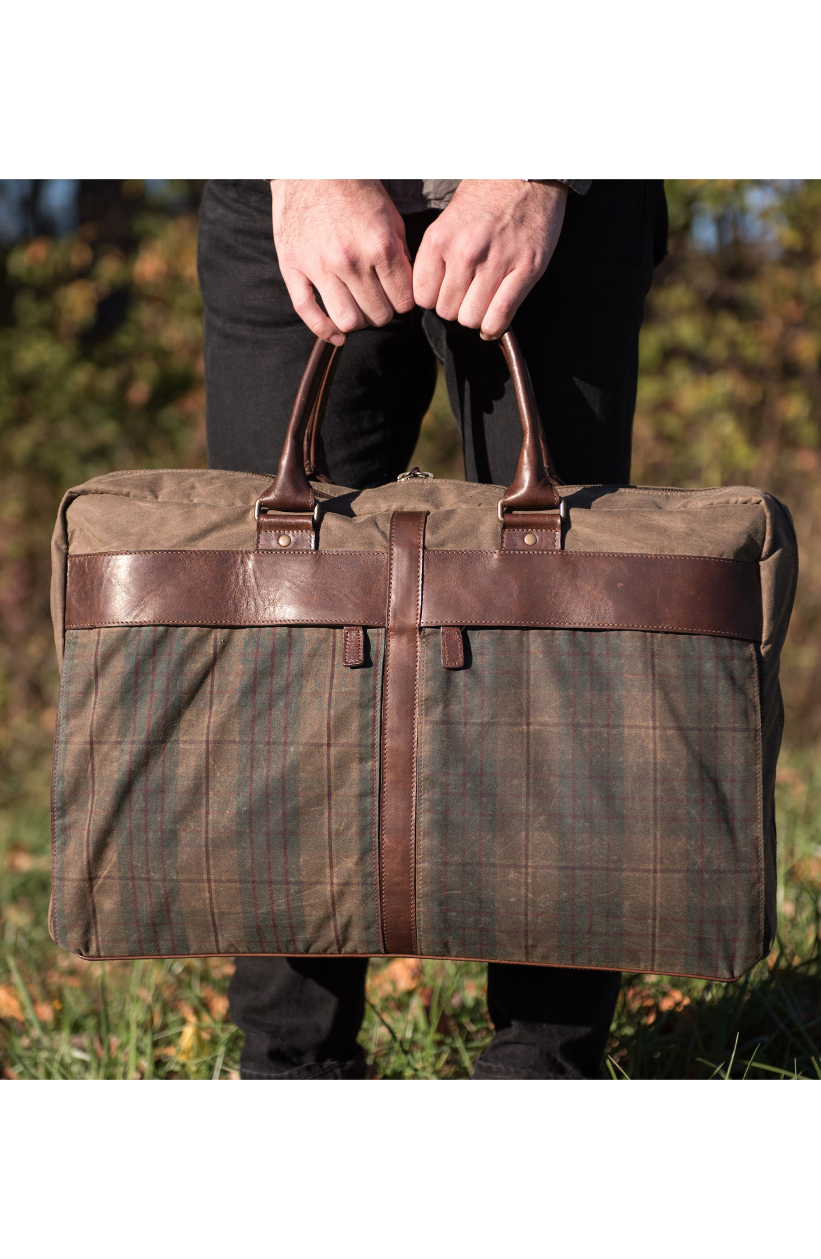 Tinsley Trifold Garment Bag,                             Alternate thumbnail 8, color,                             Baldwin Oak
