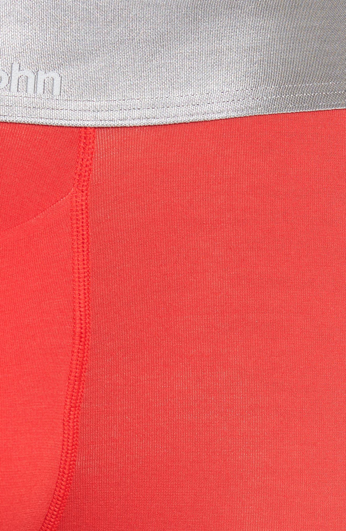 Second Skin Trunks,                             Alternate thumbnail 5, color,                             True Red/ Dress Blue