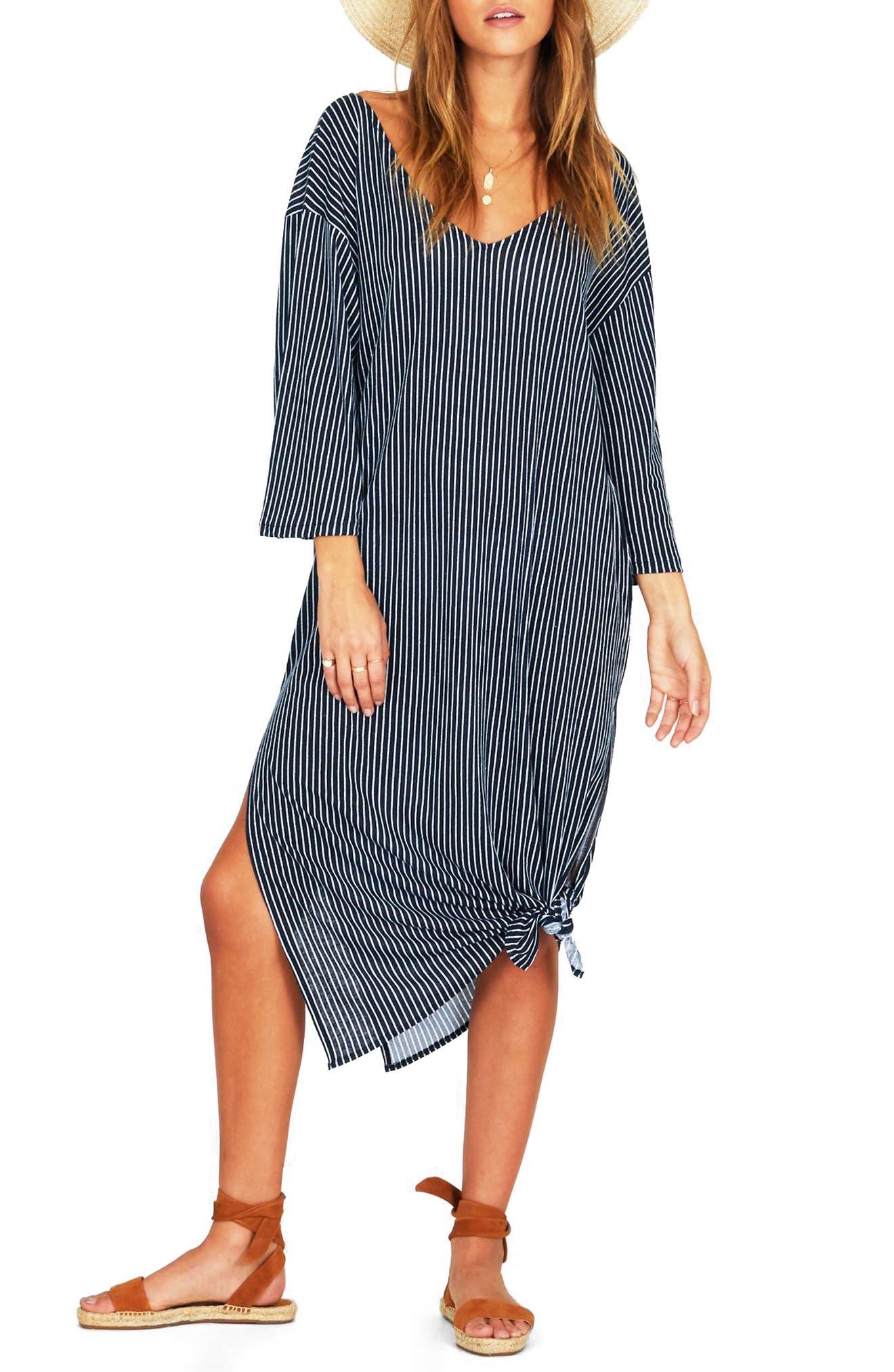 Morning Fog Midi Dress,                             Main thumbnail 1, color,                             Dark Navy