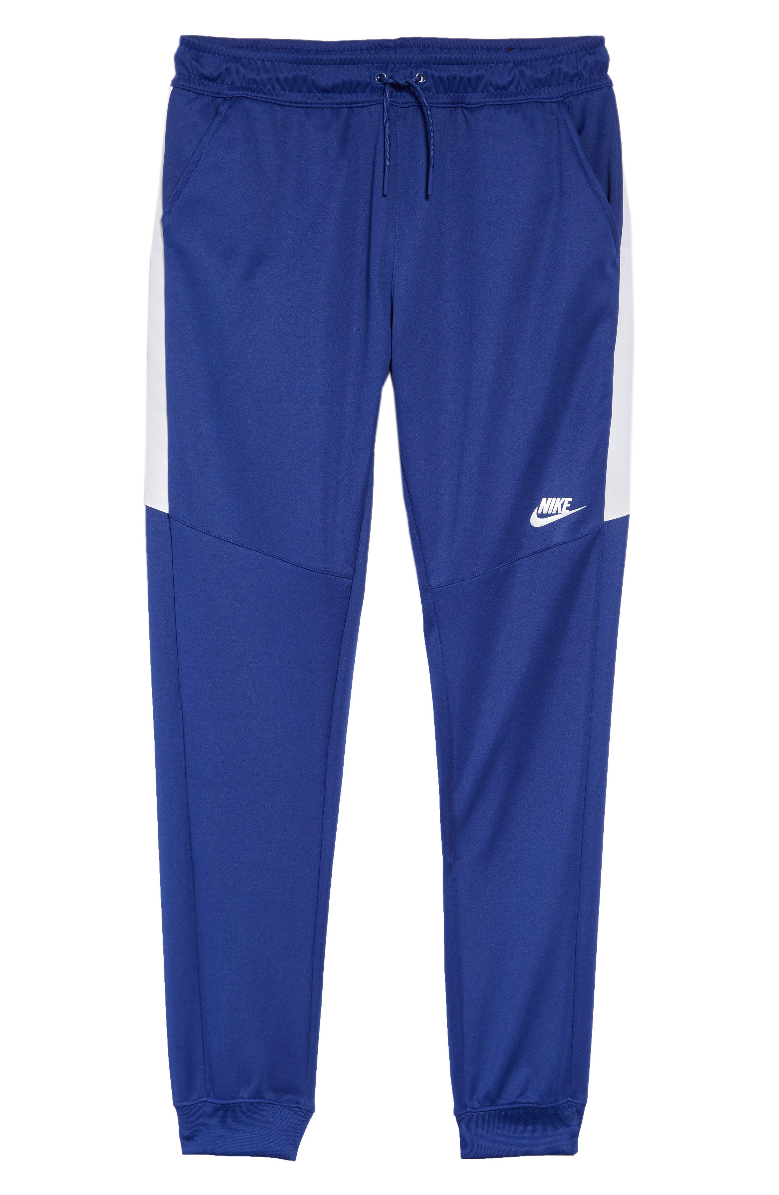 Tribute Jogger Pants,                             Alternate thumbnail 6, color,                             Deep Royal Blue/ White/ White