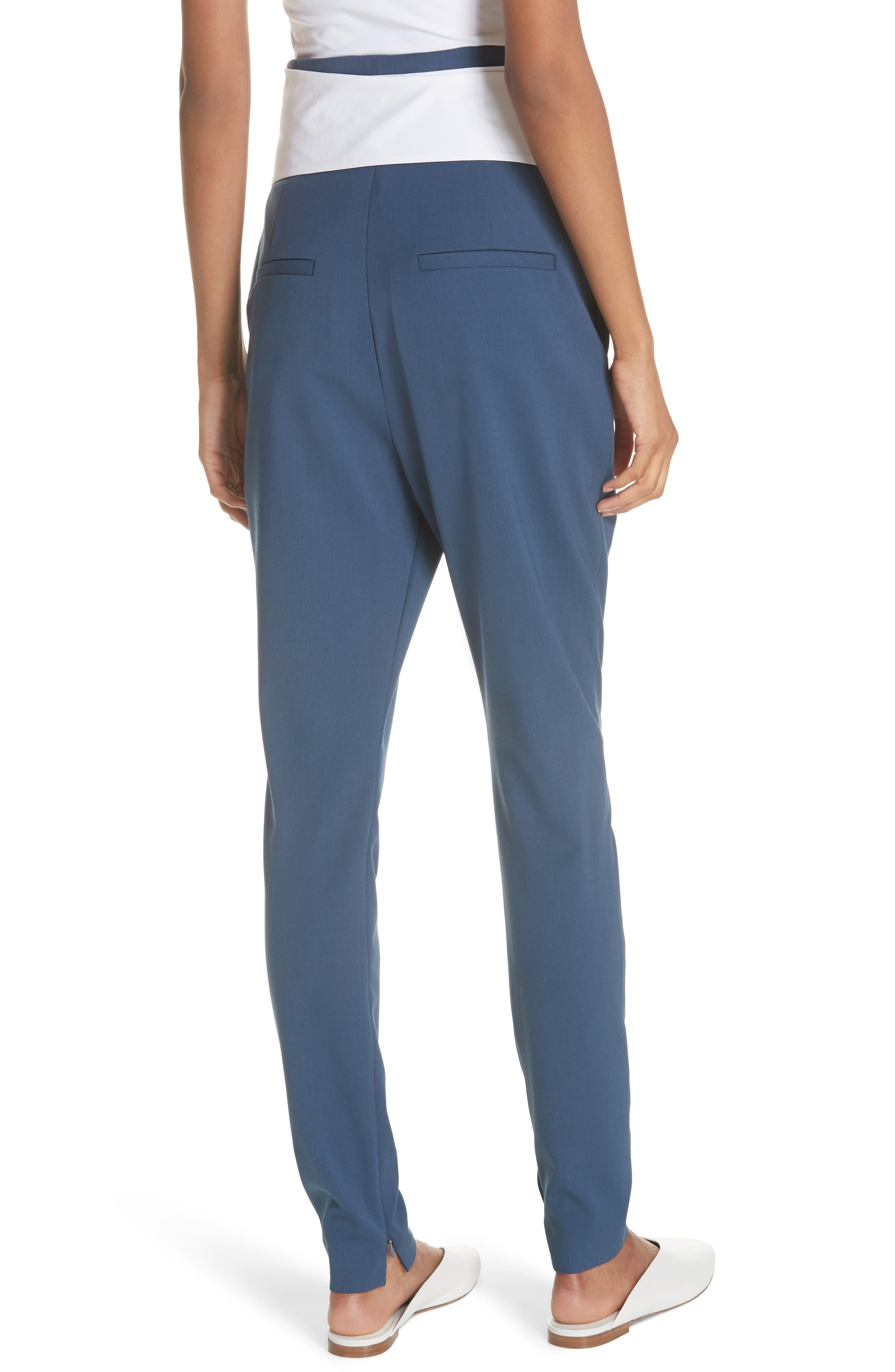 Tie Waist Paperbag Pants,                             Alternate thumbnail 2, color,                             Blue