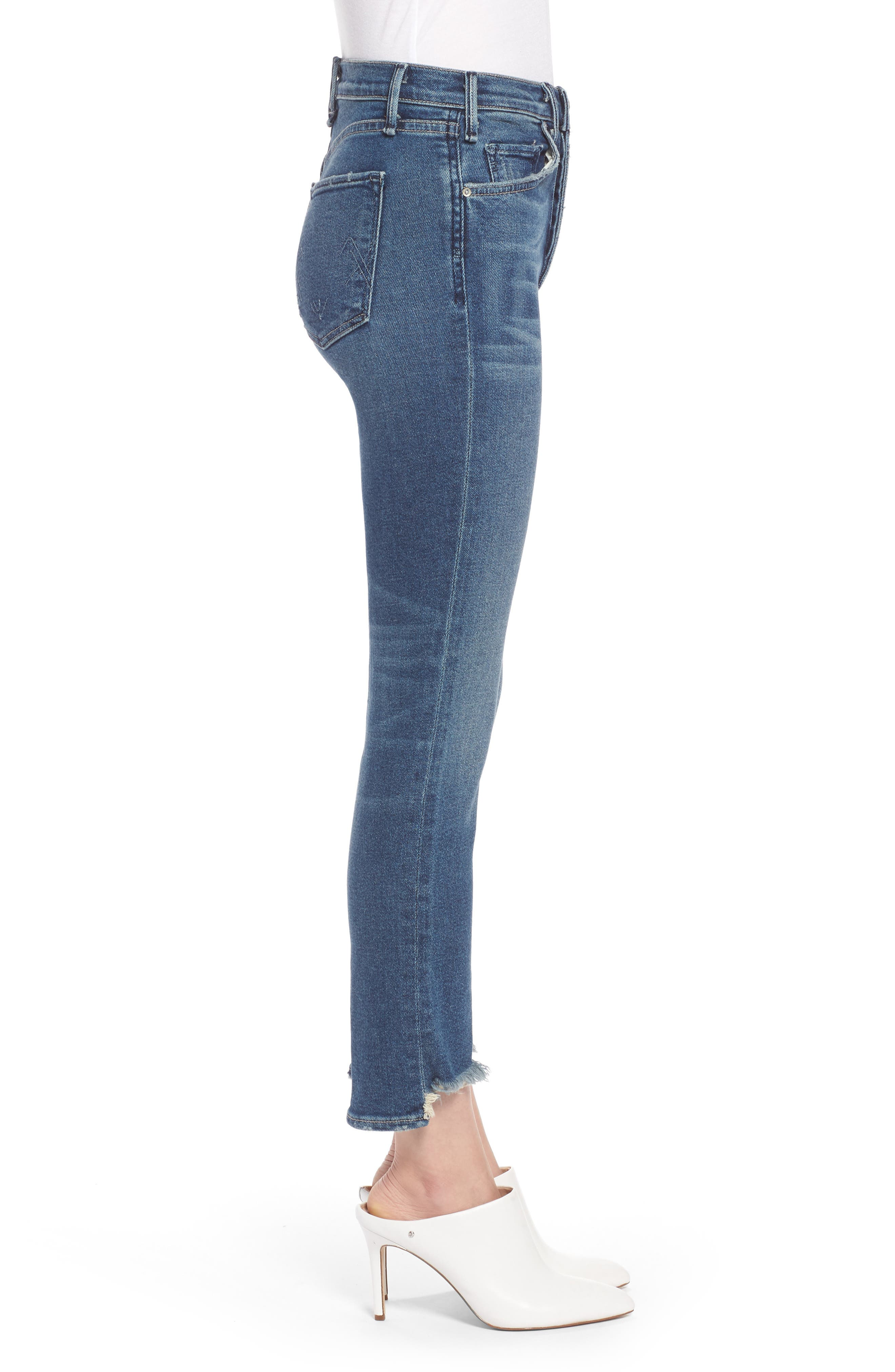 Valetta High Waist Crop Straight Leg Jeans,                             Alternate thumbnail 3, color,                             Way Up North