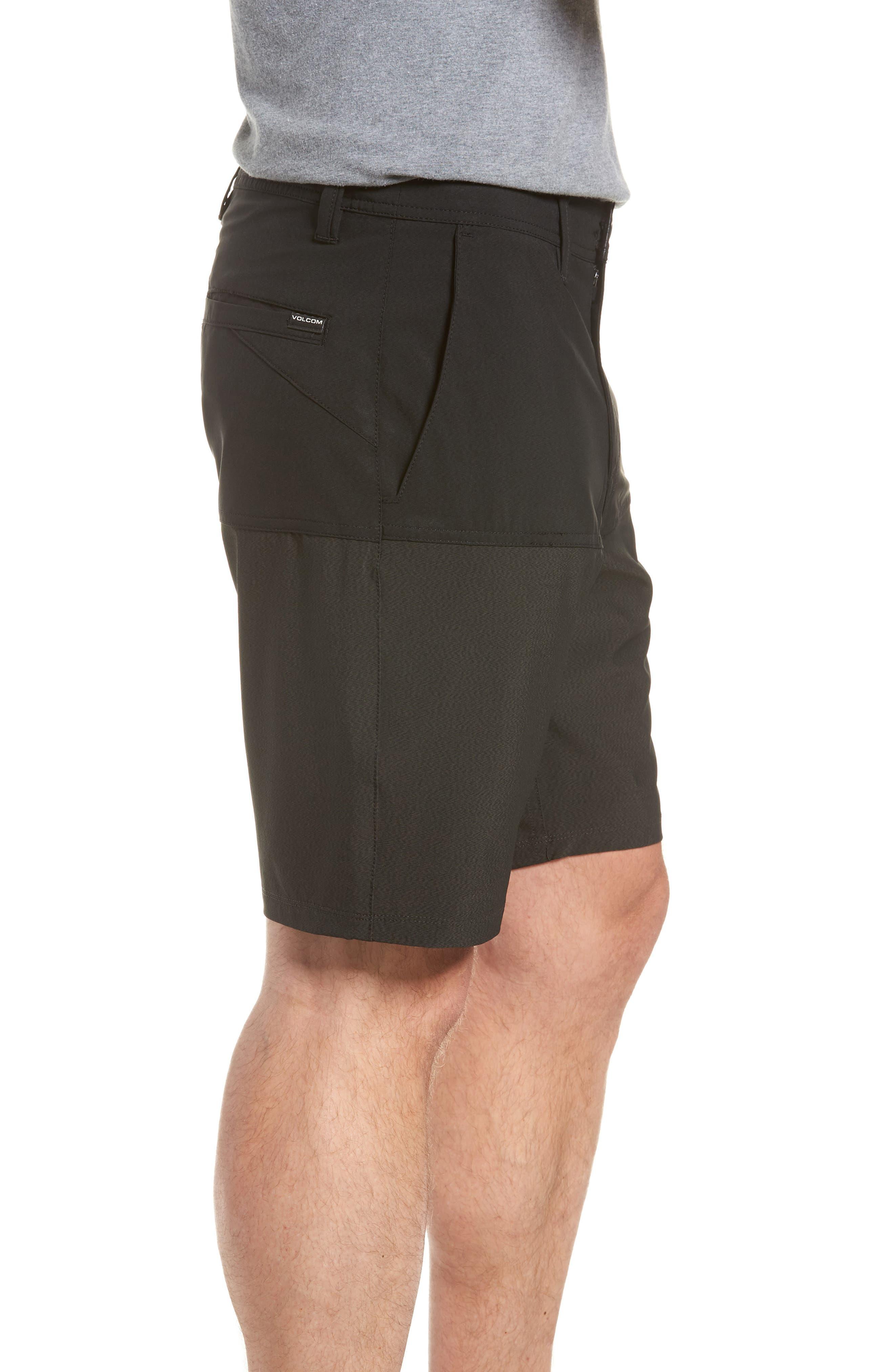 Surf 'n Turf Block Hybrid Shorts,                             Alternate thumbnail 3, color,                             Black