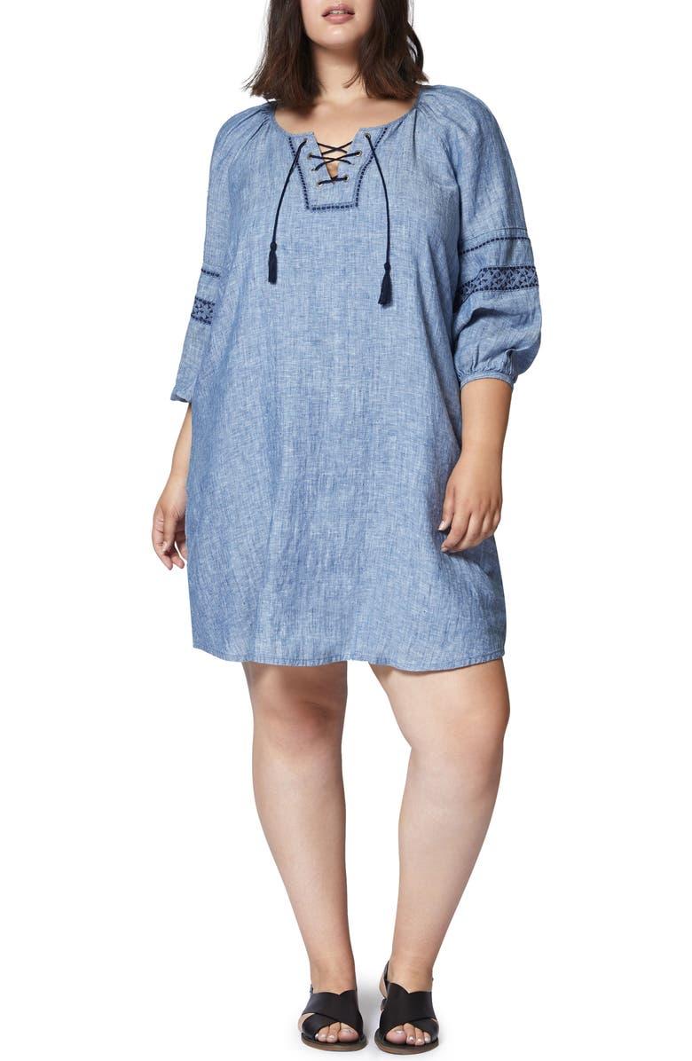 Mirabelle Linen Shift Dress