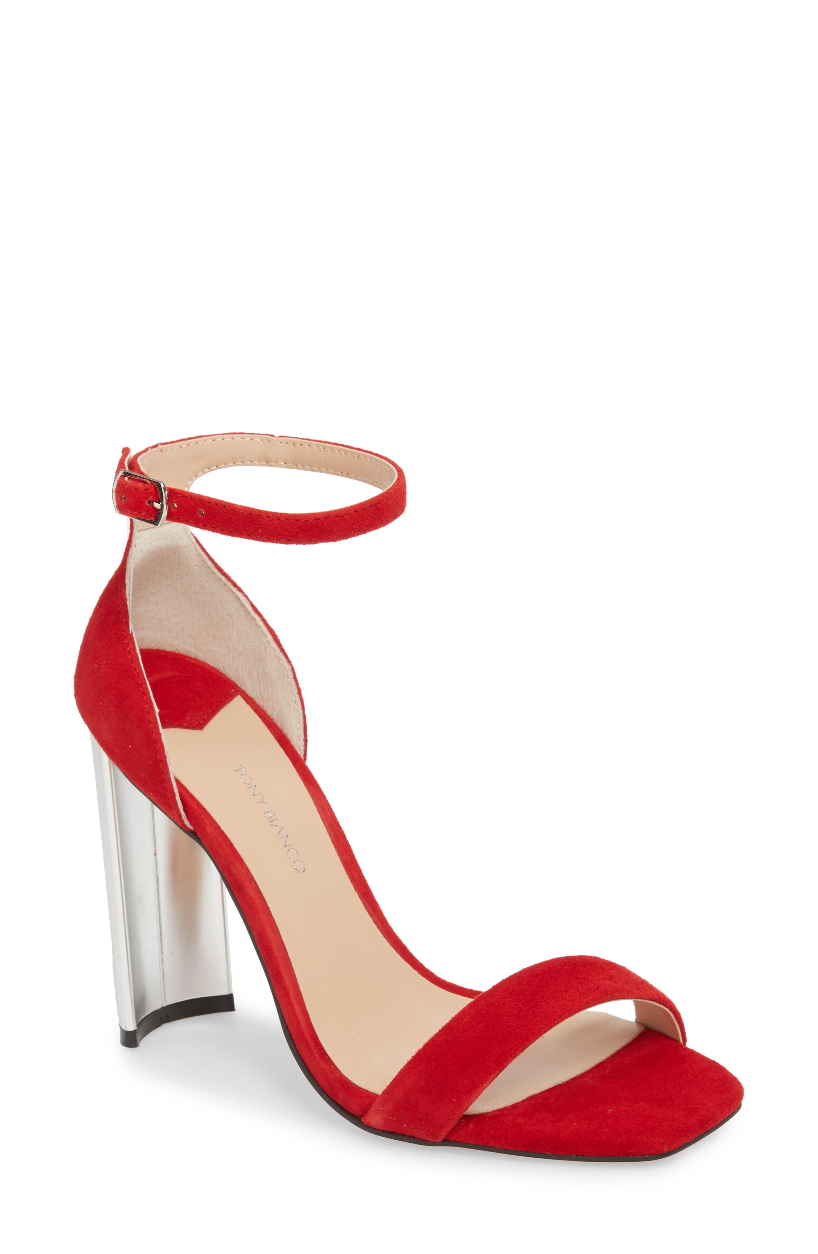 Samala Ankle Strap Sandal,                             Main thumbnail 1, color,                             Fire Suede
