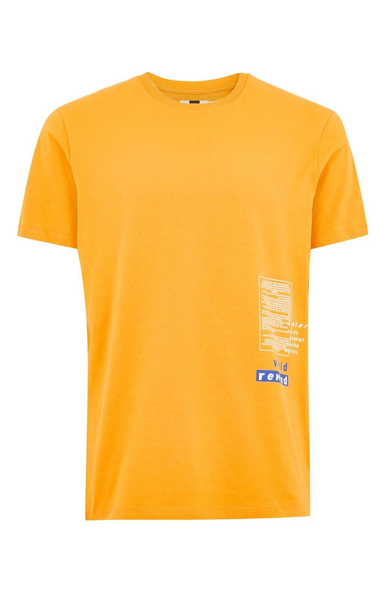 Oversize Refresh Graphic T-Shirt,                             Alternate thumbnail 4, color,                             Orange