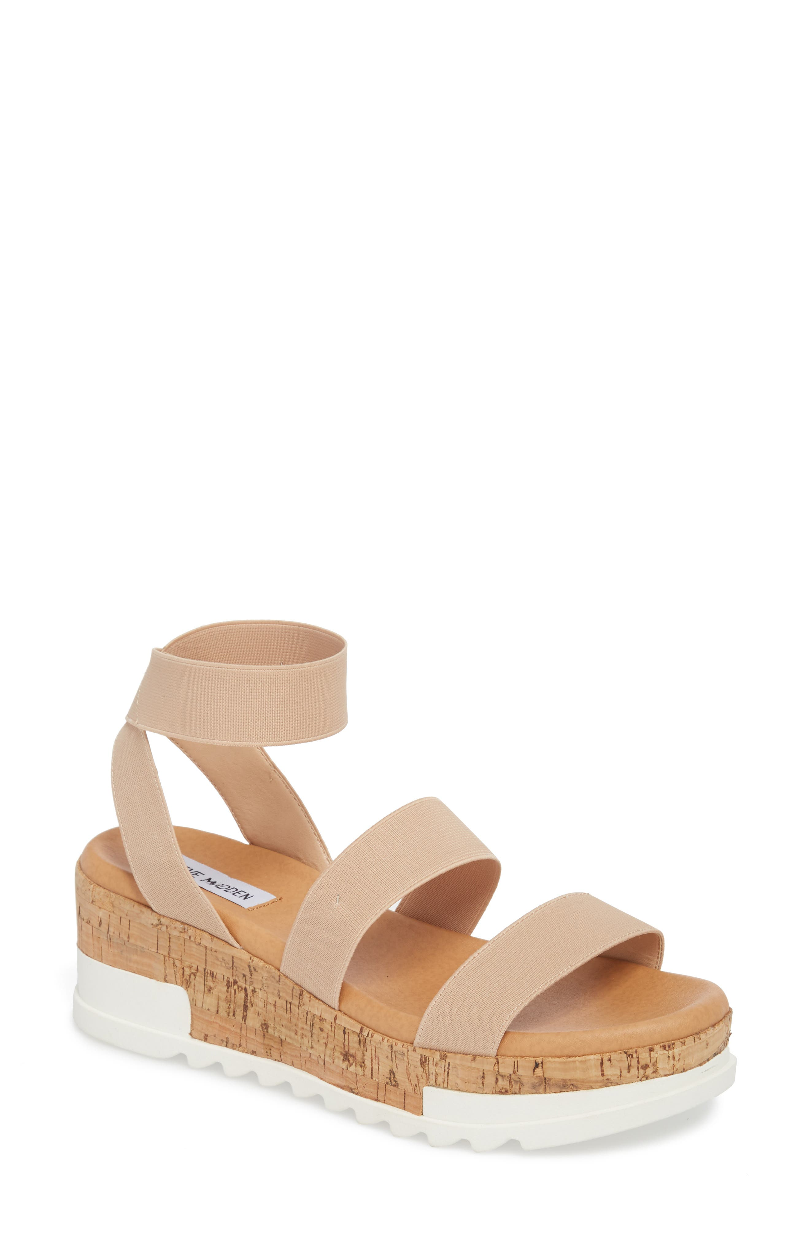 Womens Suede Open Toe Sandal Wedge Tie Up Strappy Espadrille Chunky Platform Wedge Sandal by Nevera