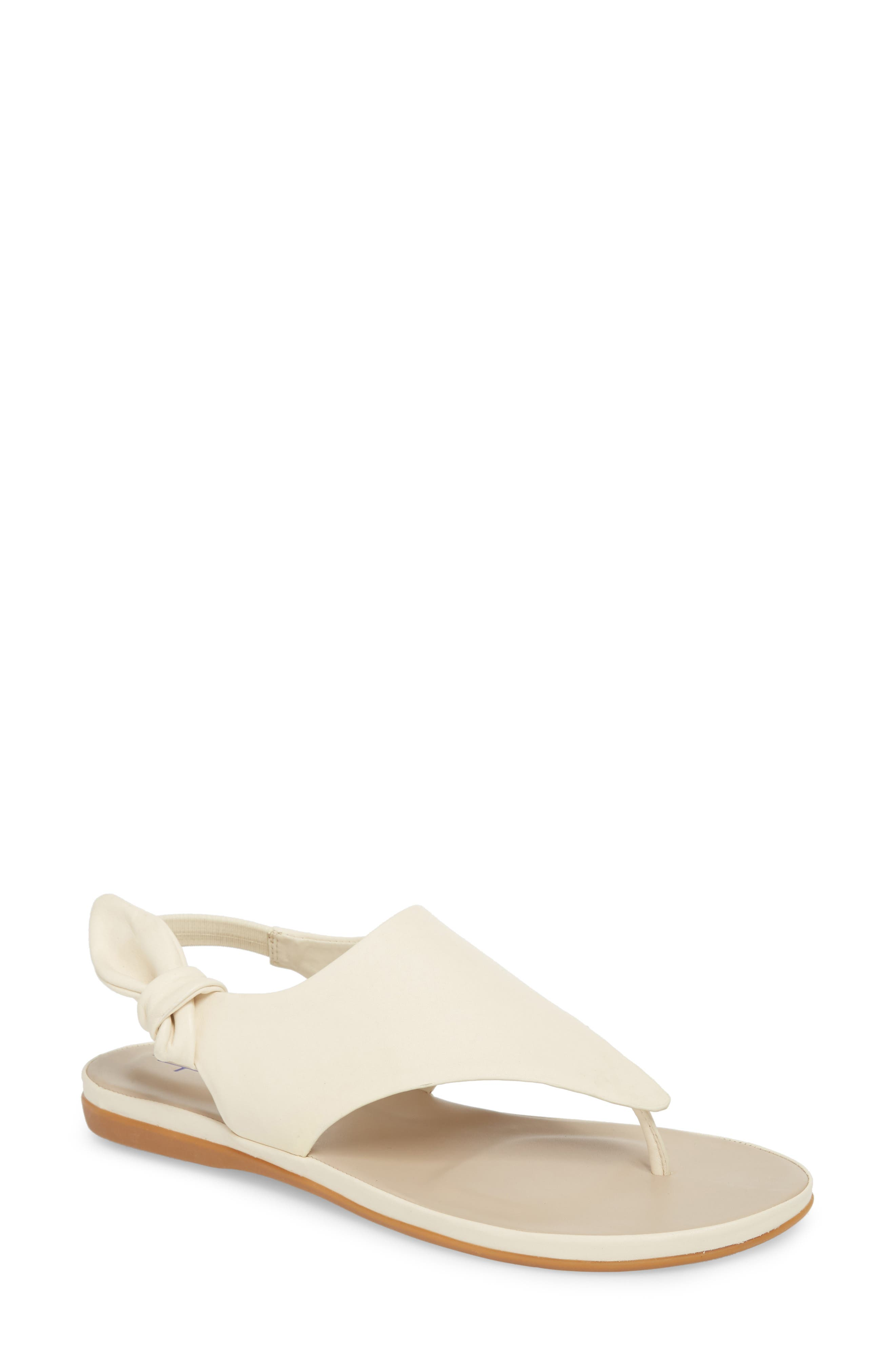 Aleena Sandal,                         Main,                         color, Warm White Leather