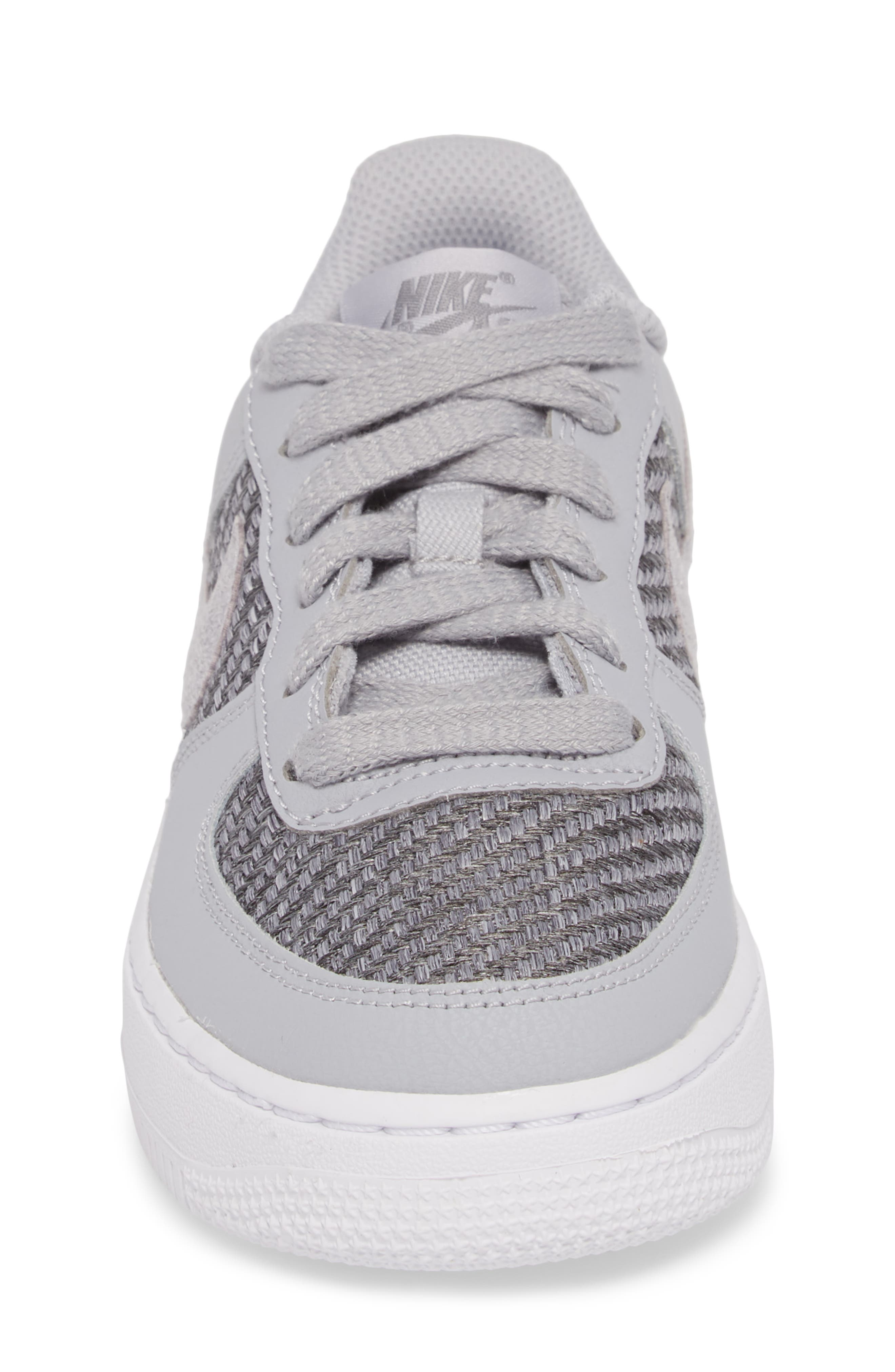 Air Force 1 LV8 Sneaker,                             Alternate thumbnail 4, color,                             Cool Grey/ White