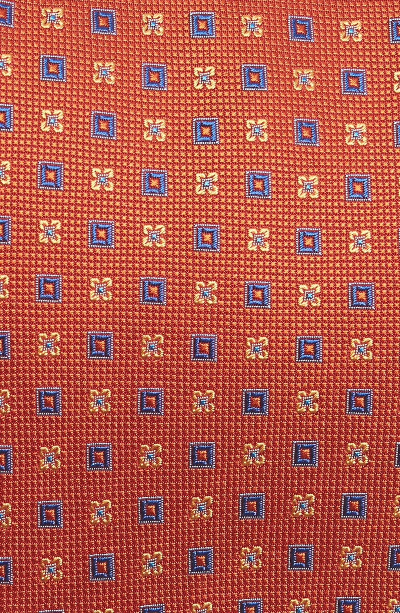 Geometric Silk Tie,                             Alternate thumbnail 2, color,                             Melon
