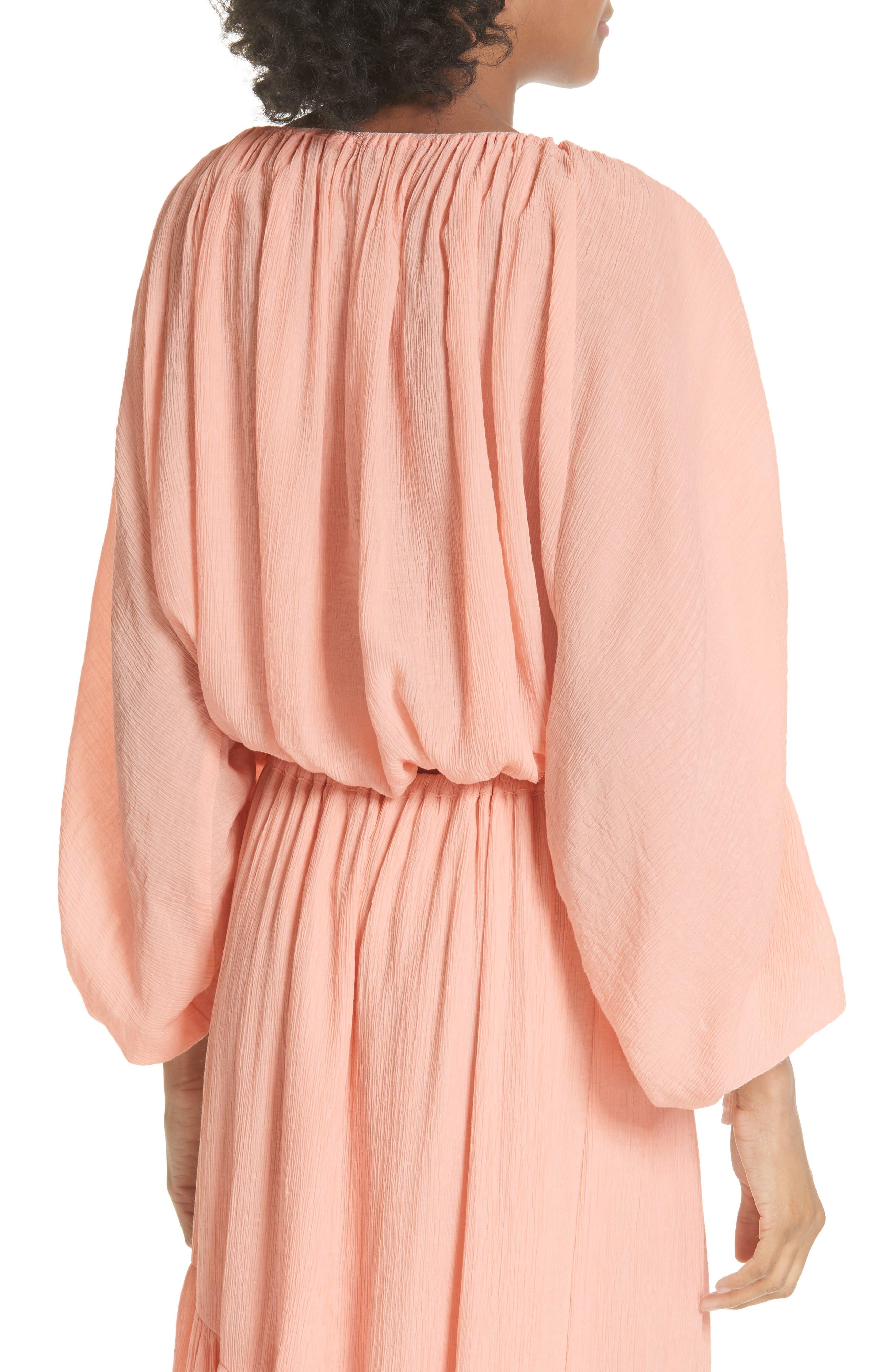 Elazara Ruched Sleeve Peasant Top,                             Alternate thumbnail 2, color,                             Summer Pink