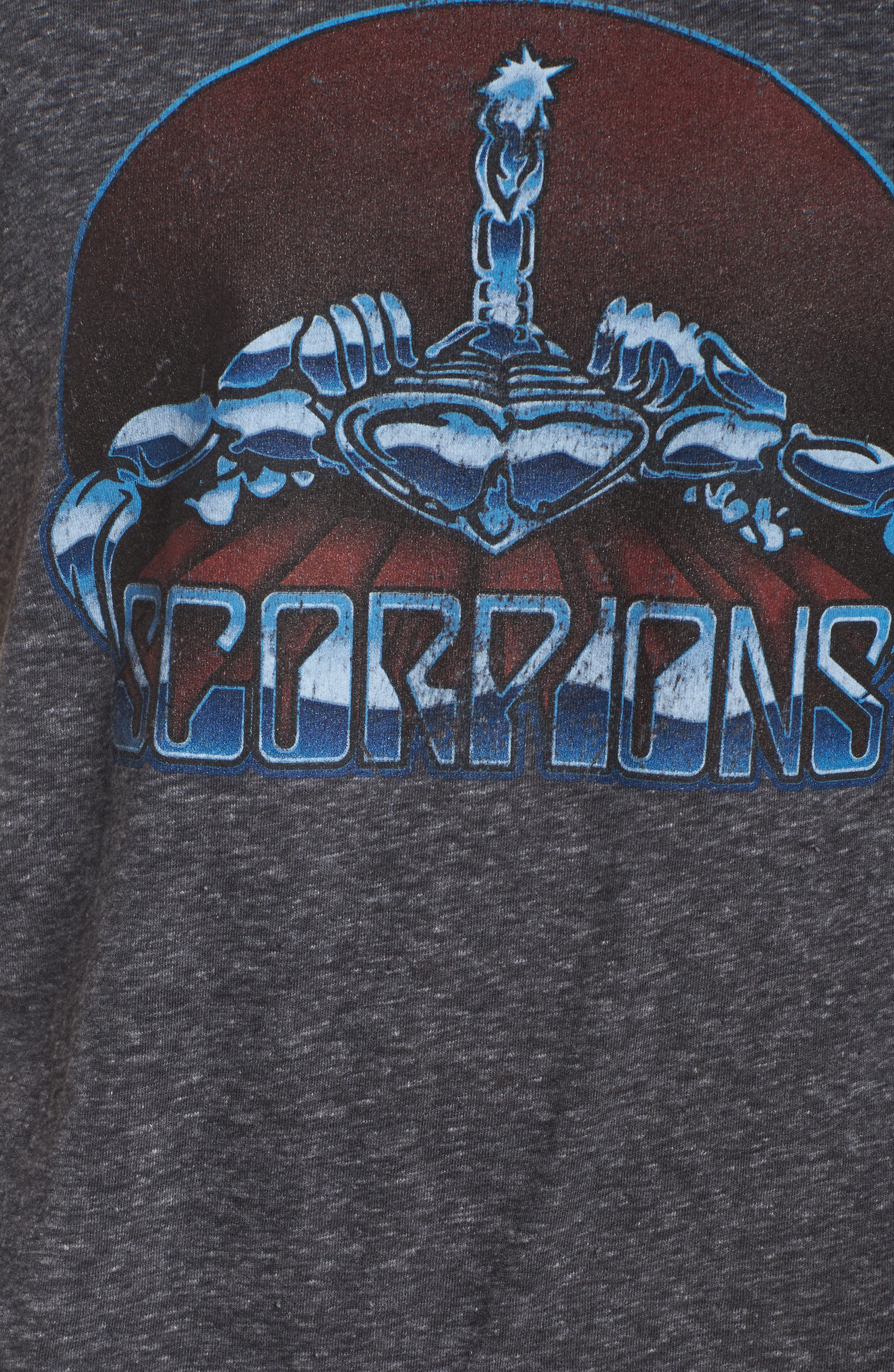 Scorpions High/Low Tee,                             Alternate thumbnail 5, color,                             Charcoal Heather