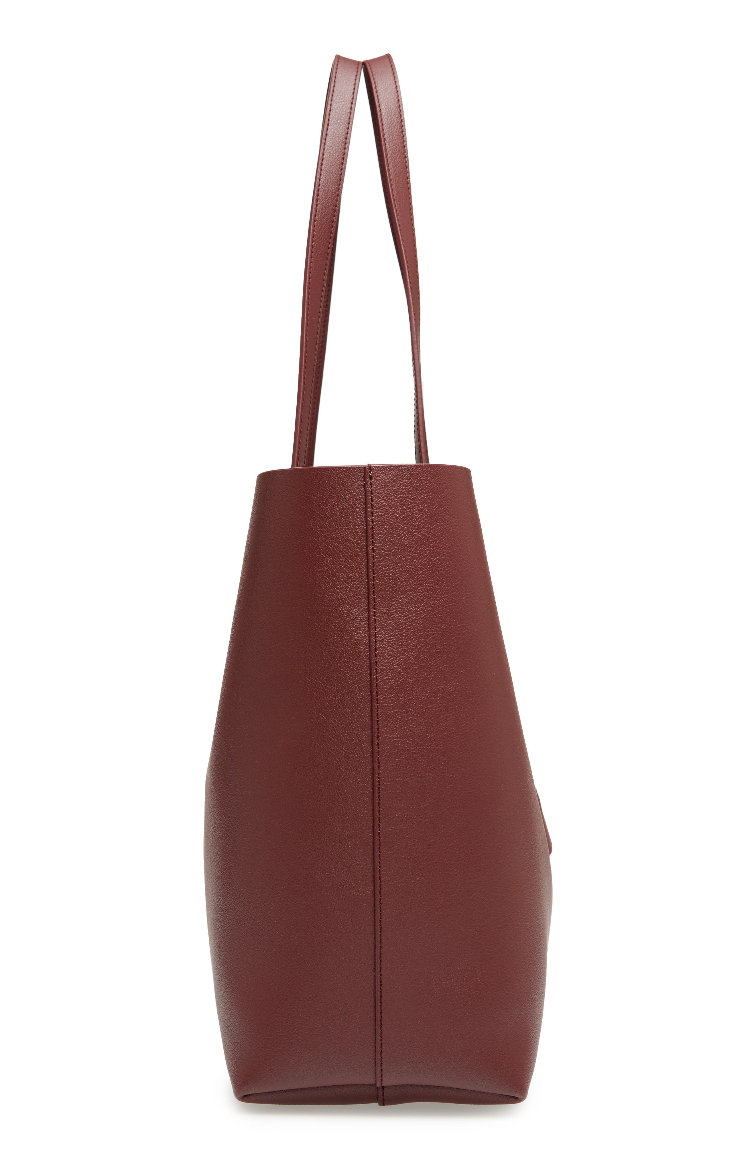 'Shopping' Leather Tote,                             Alternate thumbnail 5, color,                             Rouge Legion